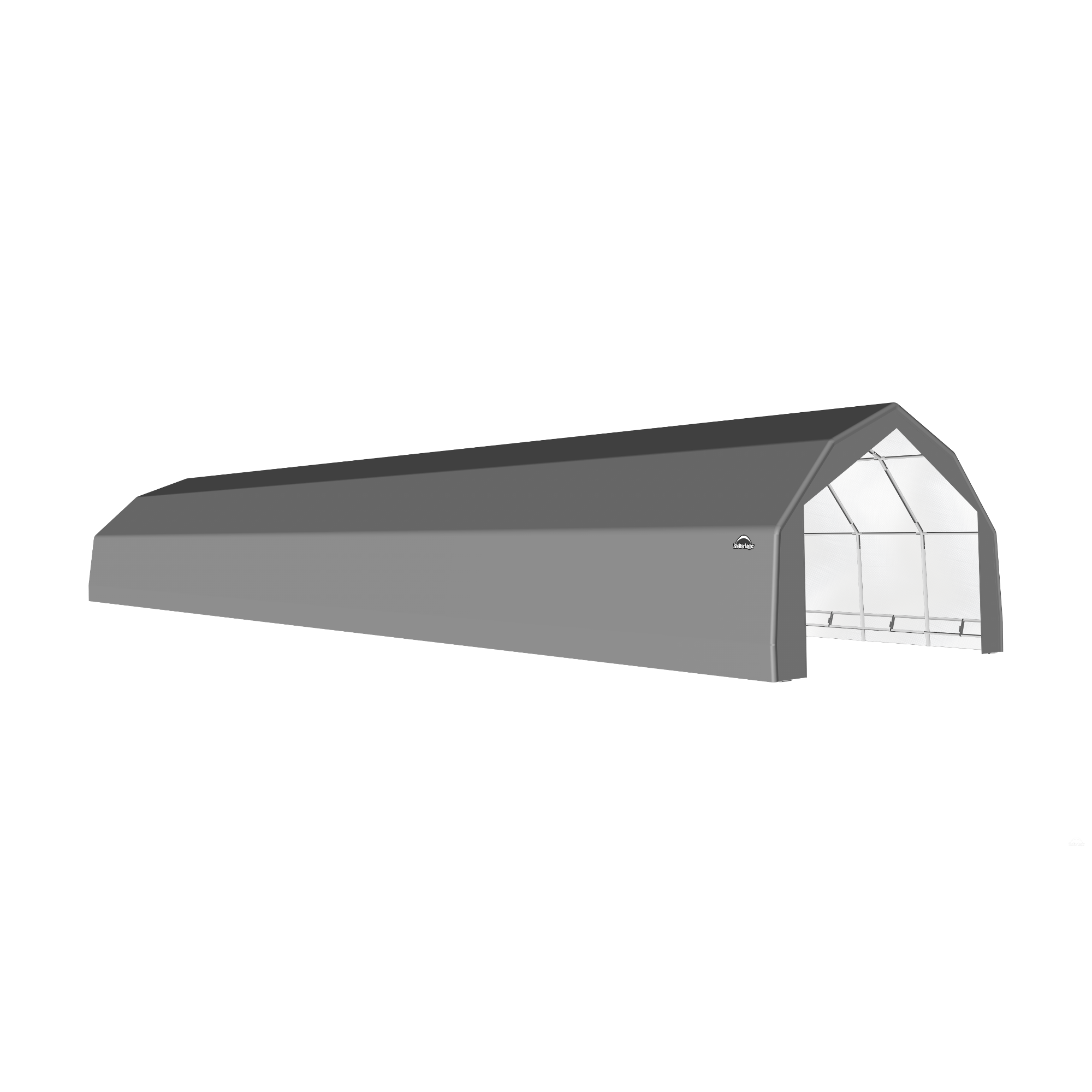SP Barn 20X80X12 Gray 14 oz PE Shelter
