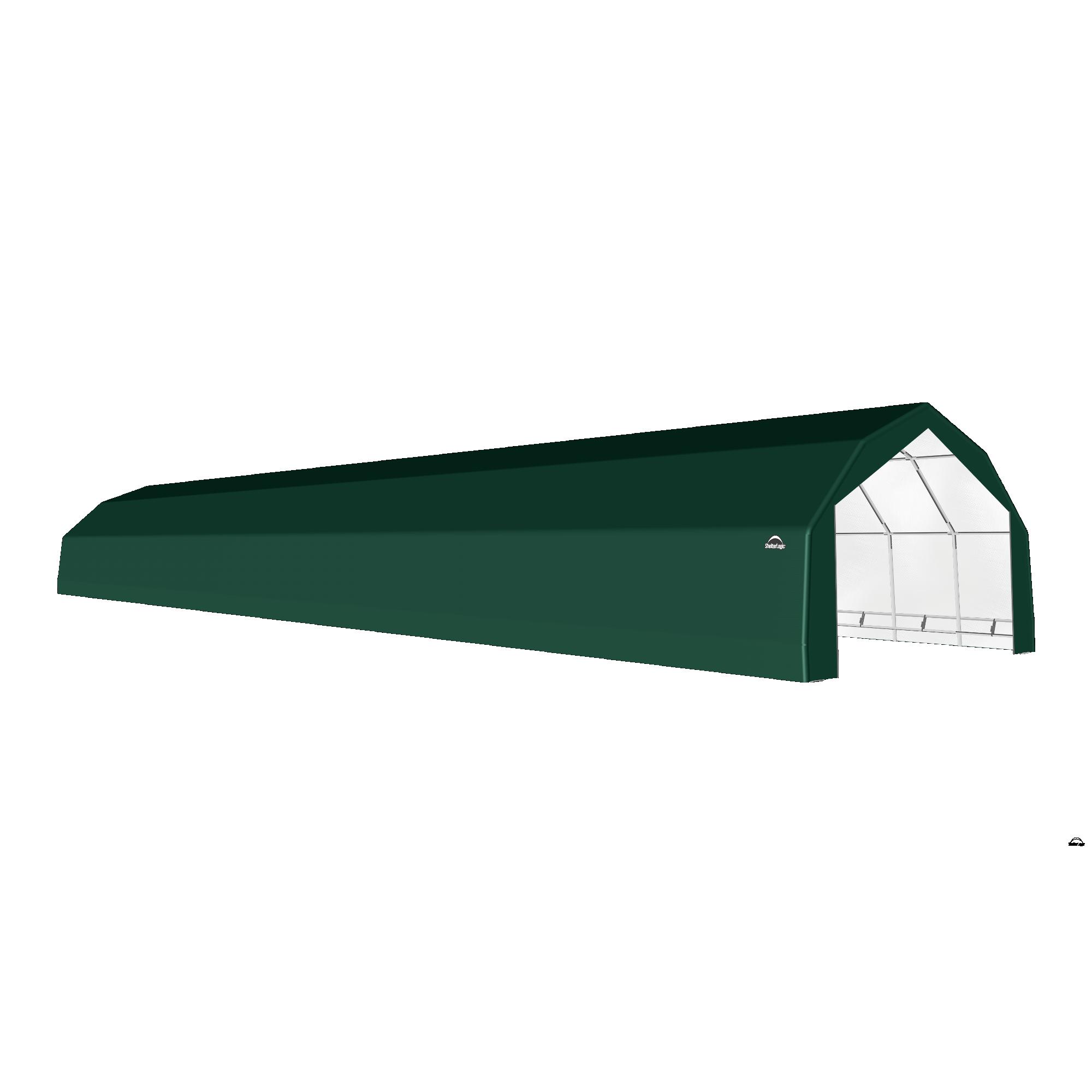 SP Barn 20X92X12 Green 14 oz PE Shelter