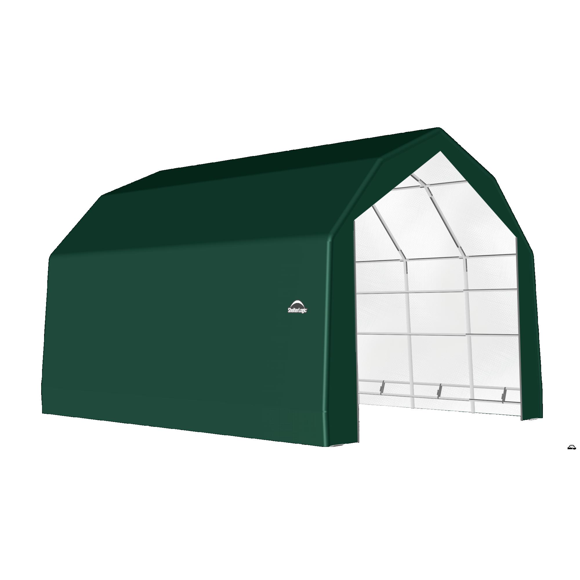 SP Barn 20X28X15 Green 14 oz PE Shelter