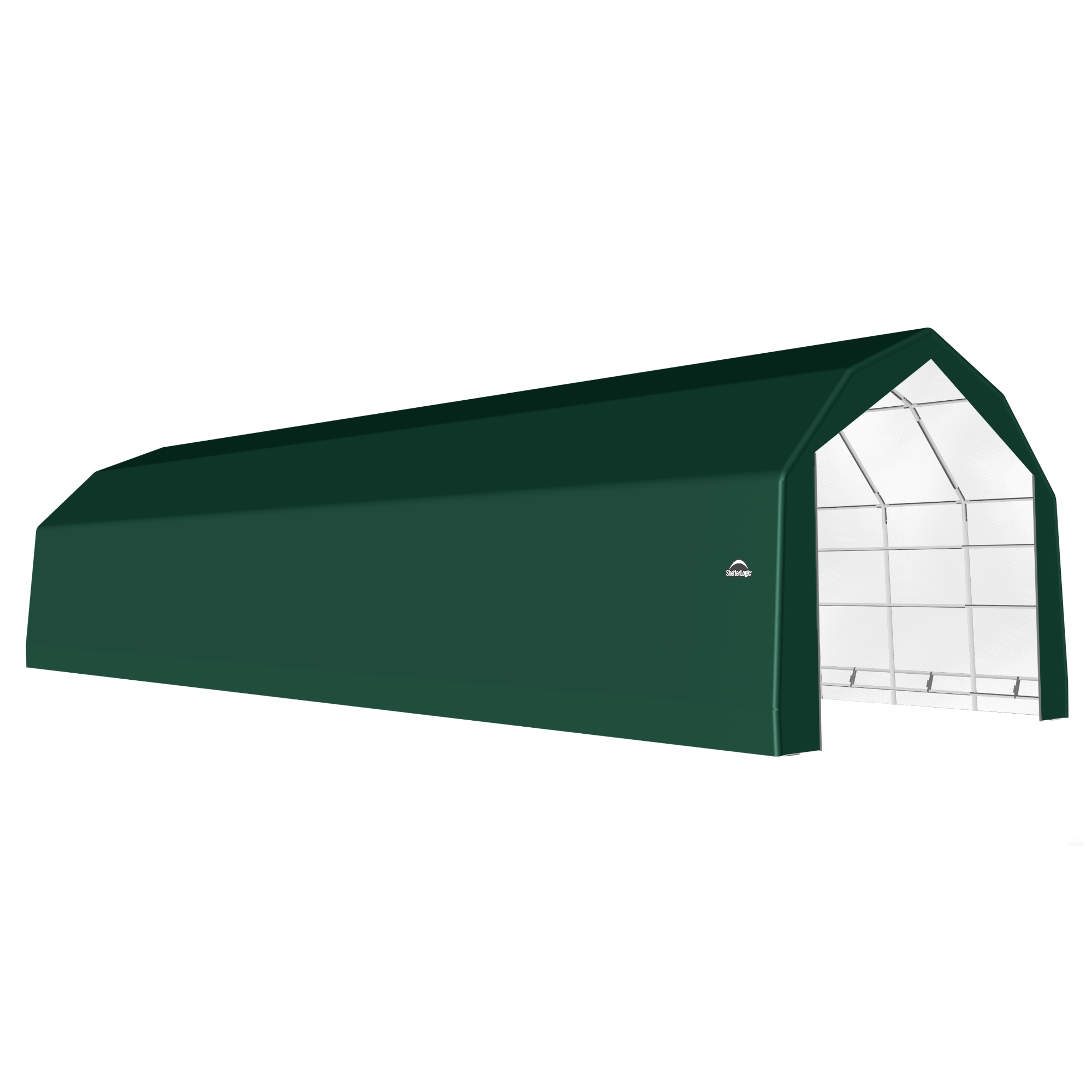 SP Barn 20X68X15 Green 14 oz PE Shelter