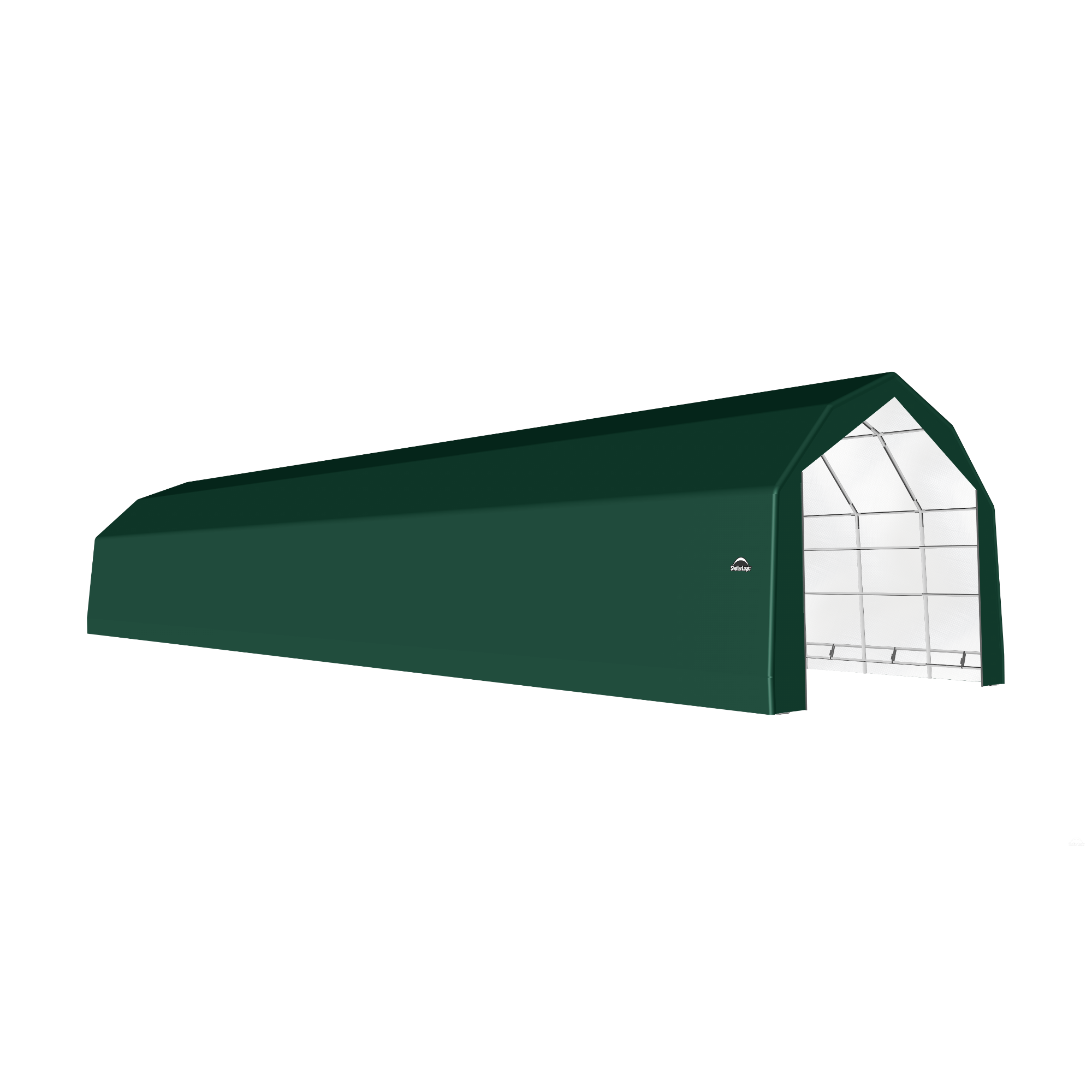 SP Barn 20X80X15 Green 14 oz PE Shelter