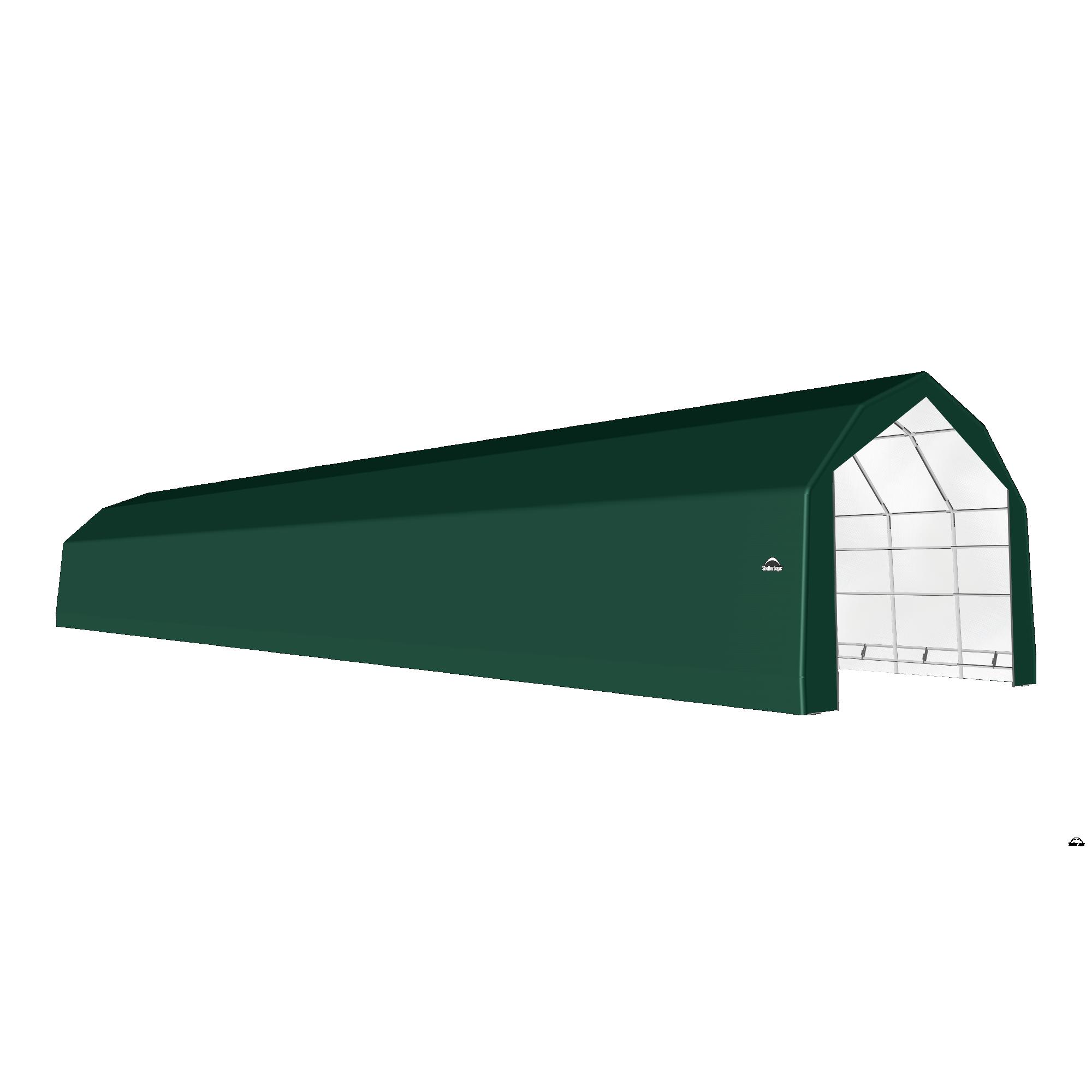 SP Barn 20X100X15 Green 14 oz PE Shelter