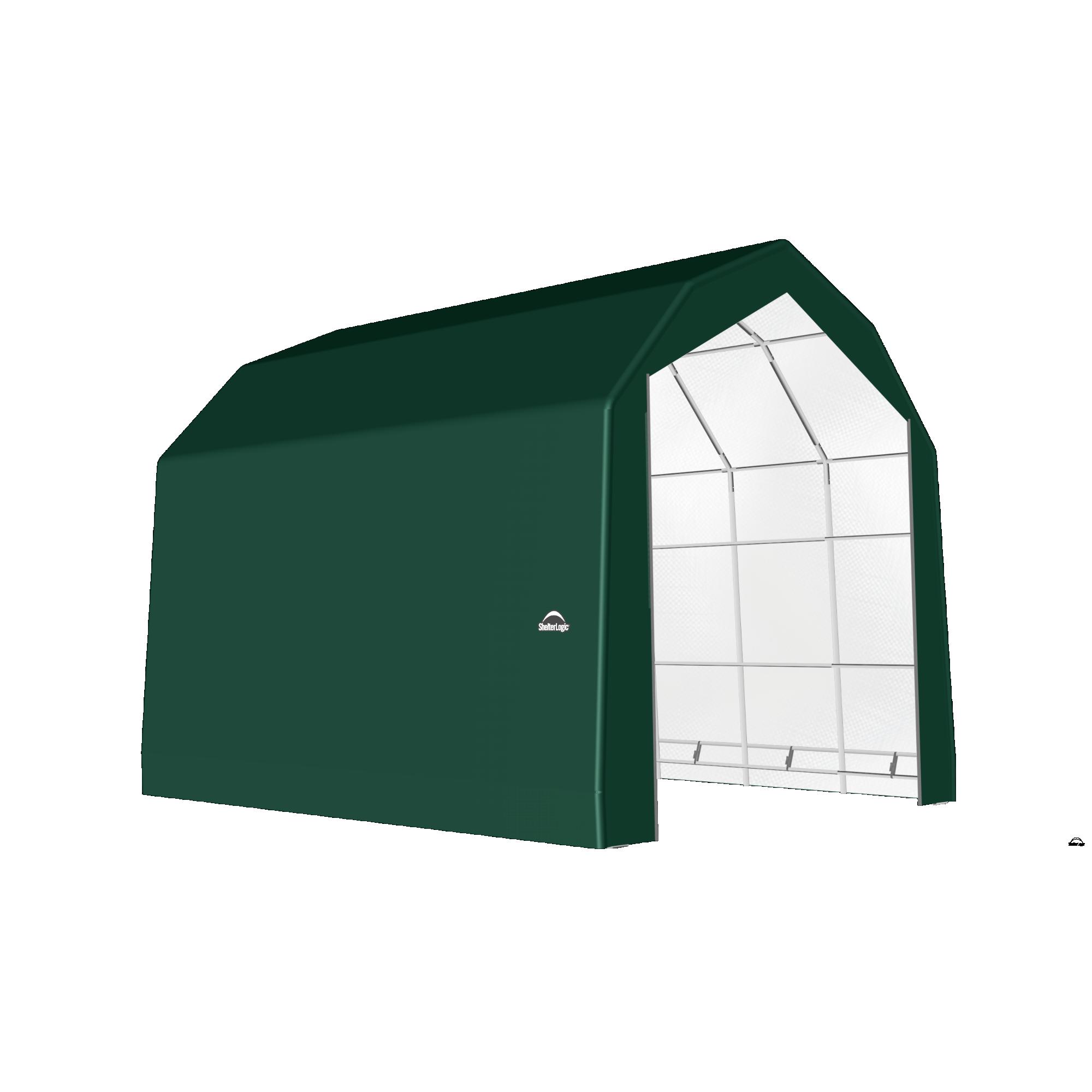 SP Barn 20X20X18 Green 14 oz PE Shelter