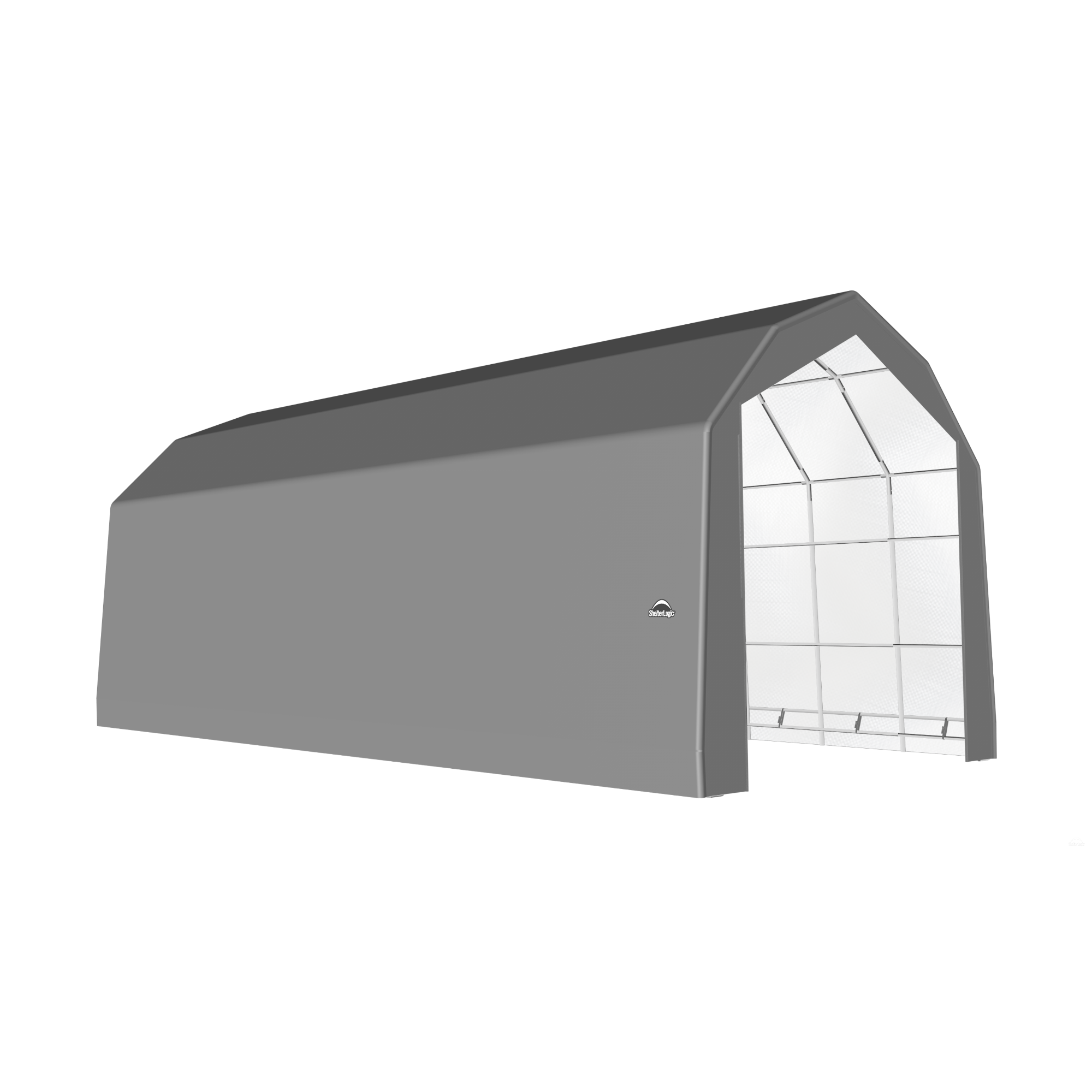 SP Barn 20X44X18 Gray 14 oz PE Shelter