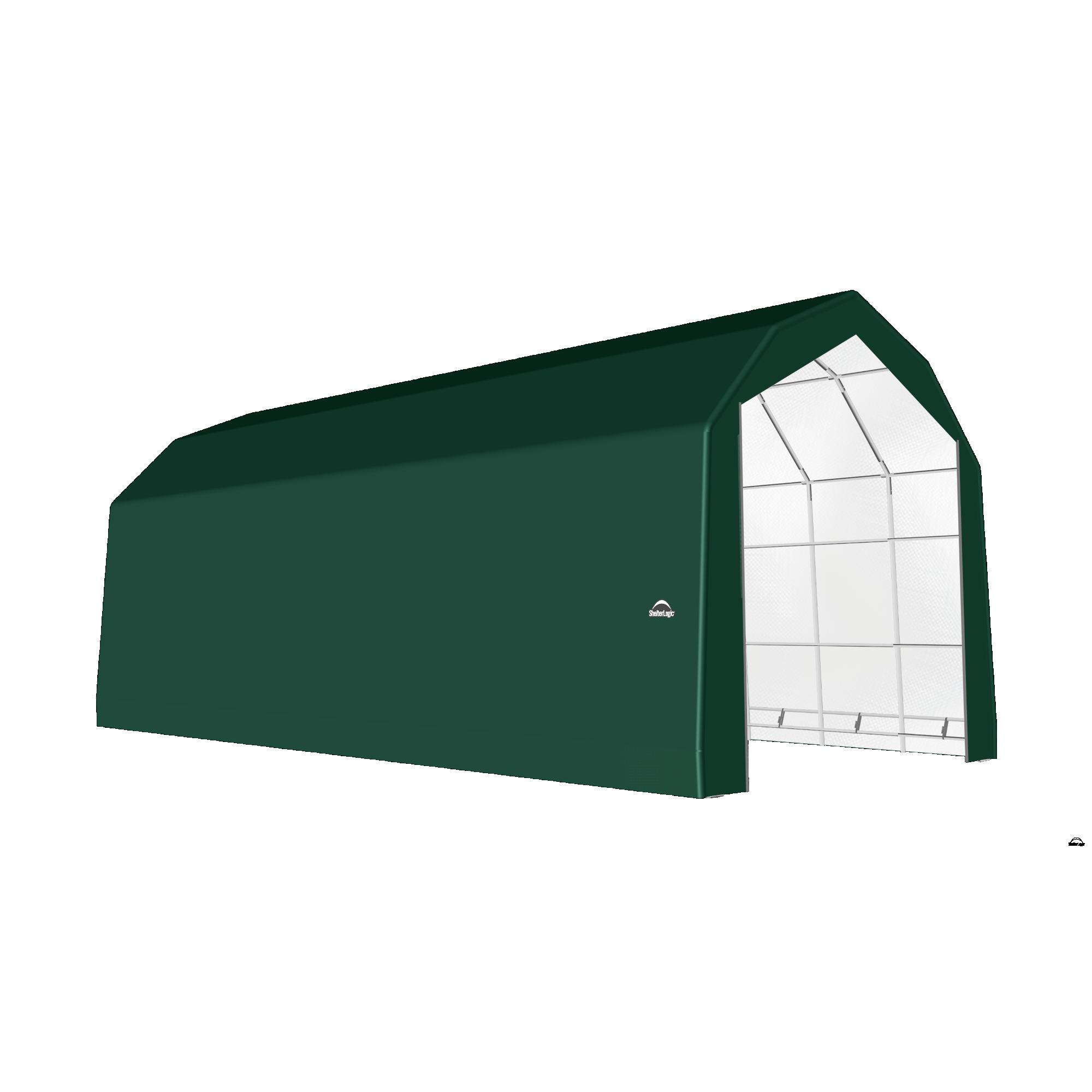 SP Barn 20X48X18 Green 14 oz PE Shelter