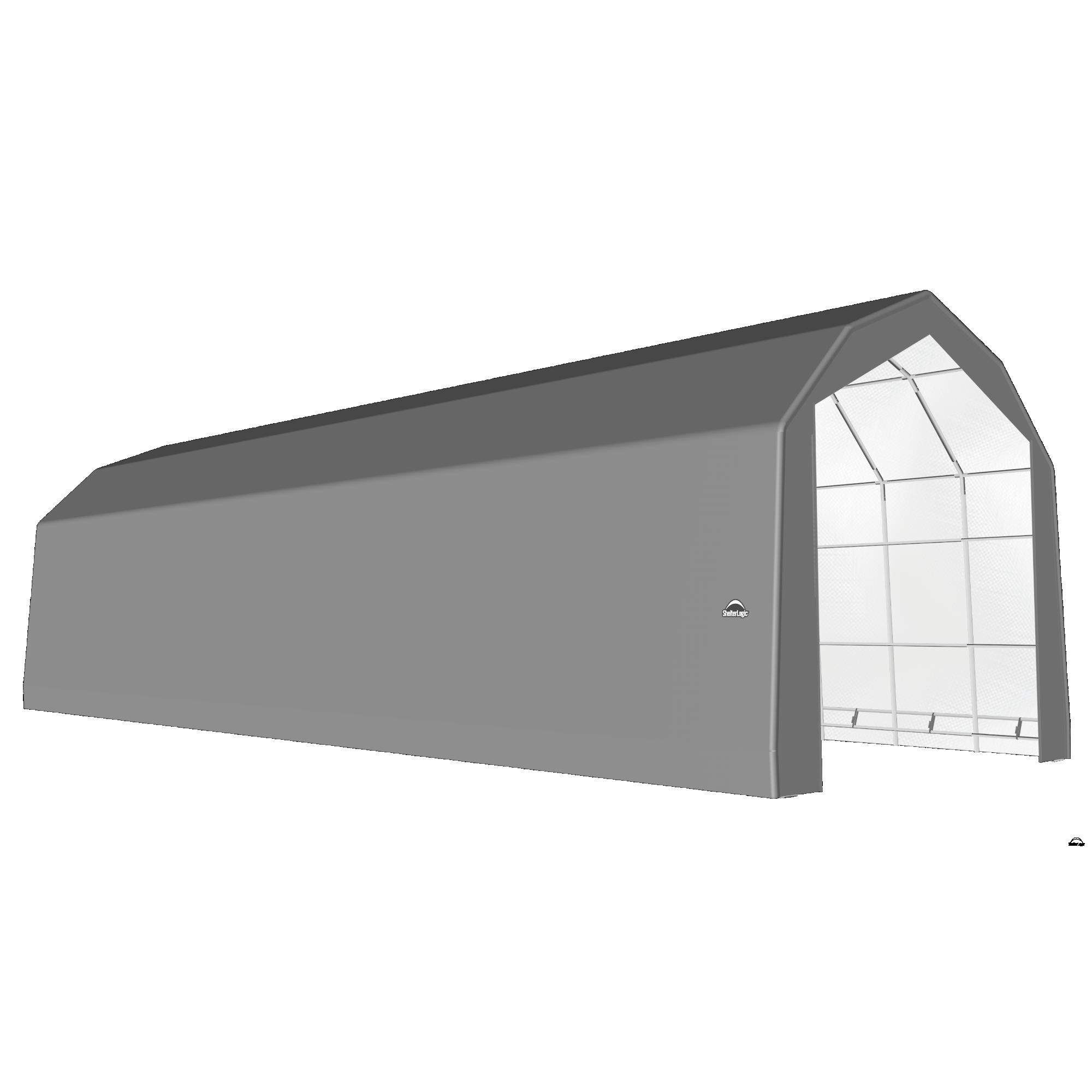 SP Barn 20X56X18 Gray 14 oz PE Shelter