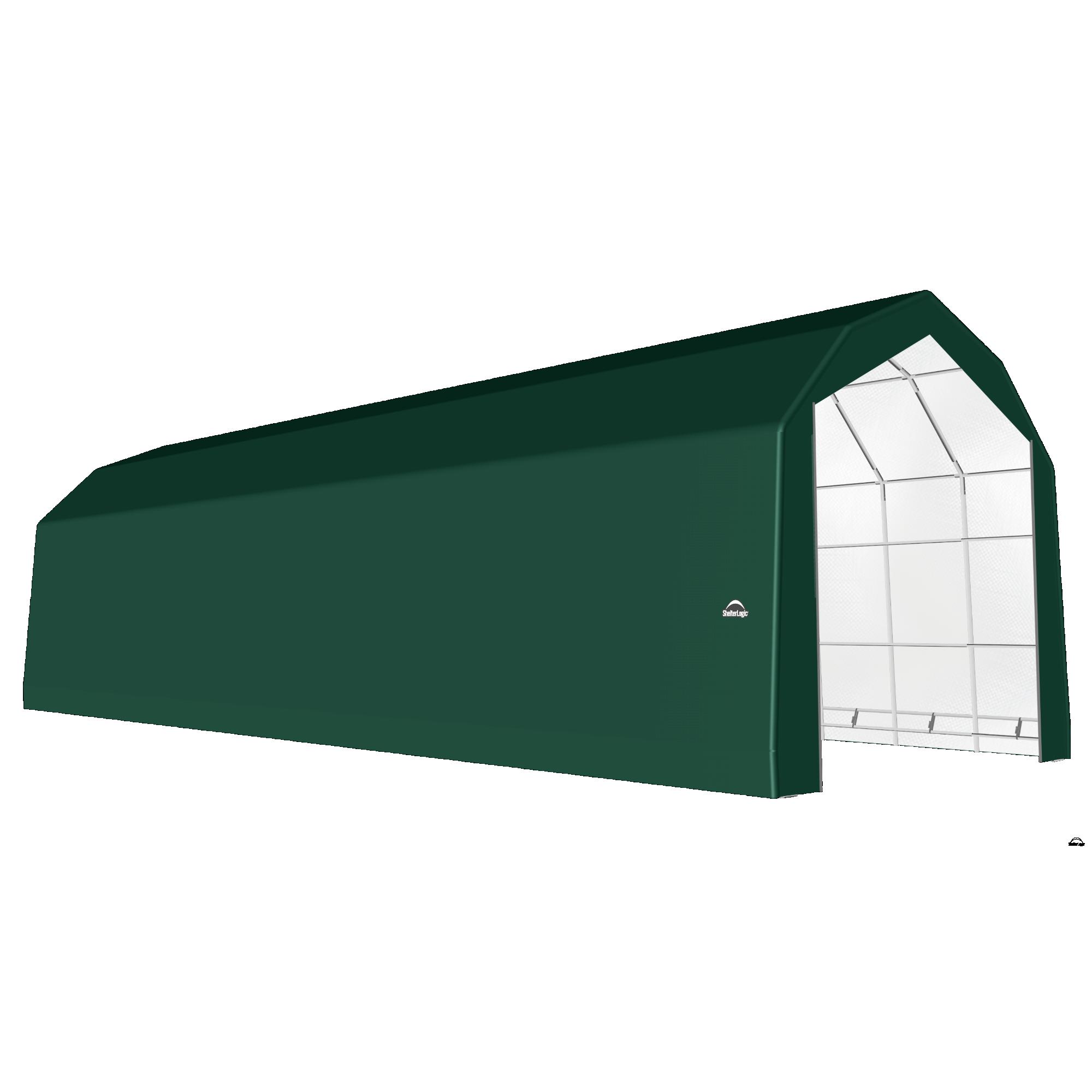 SP Barn 20X56X18 Green 14 oz PE Shelter