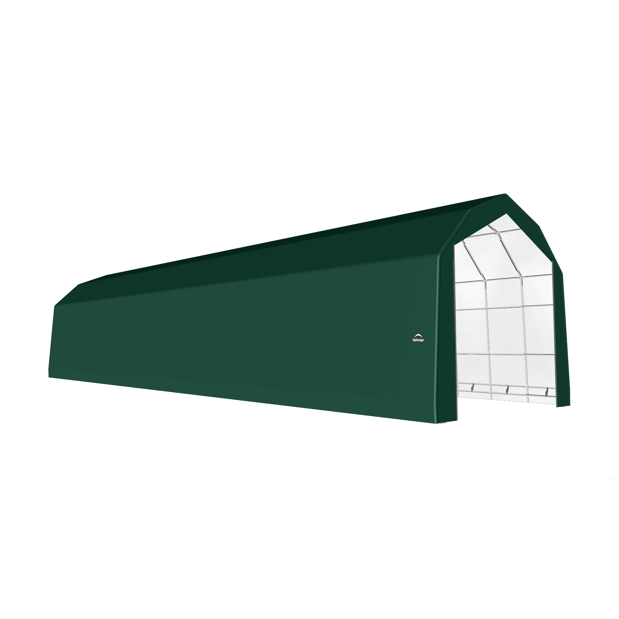 SP Barn 20X84X18 Green 14 oz PE Shelter