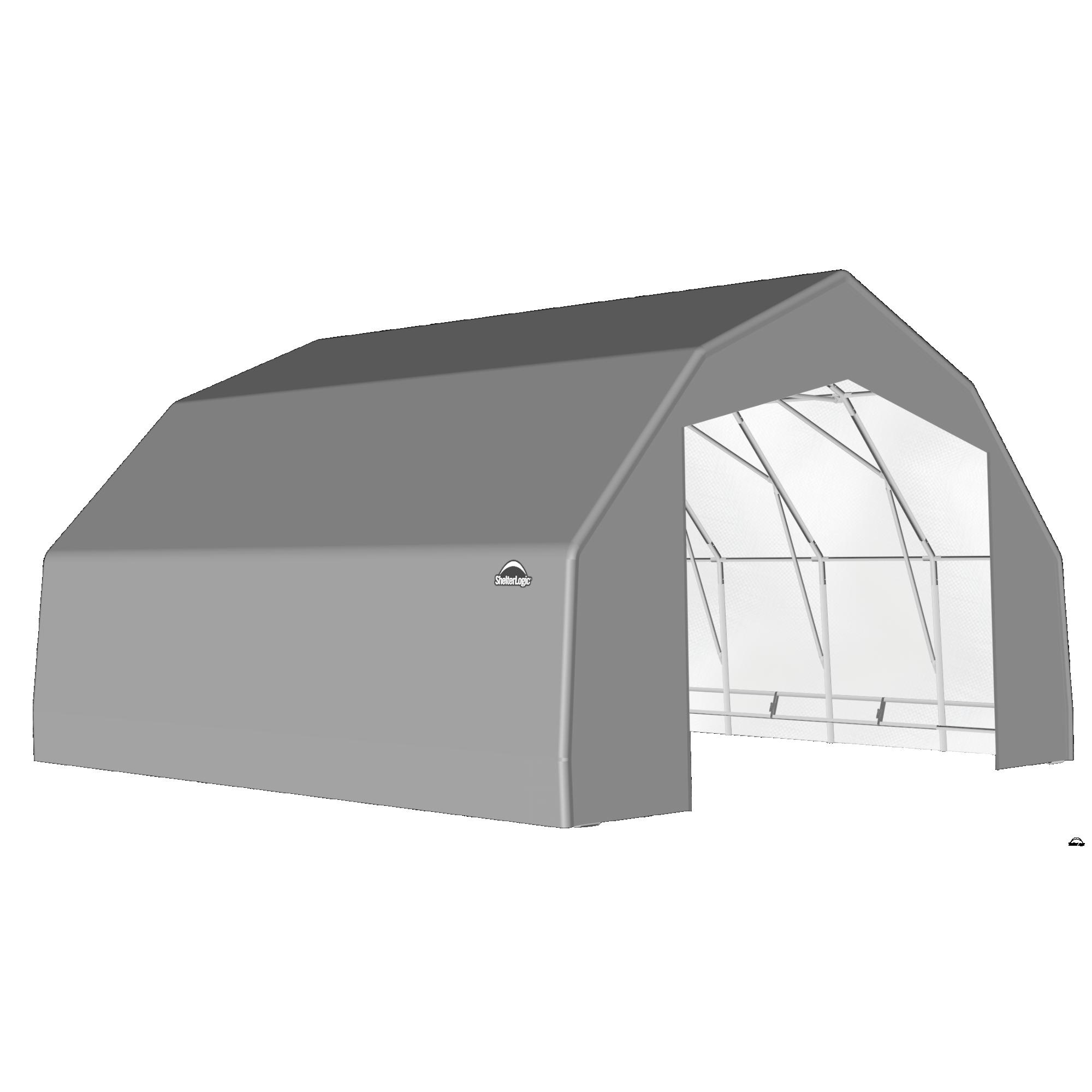 SP Barn 25X20X14 Gray 14 oz PE Shelter