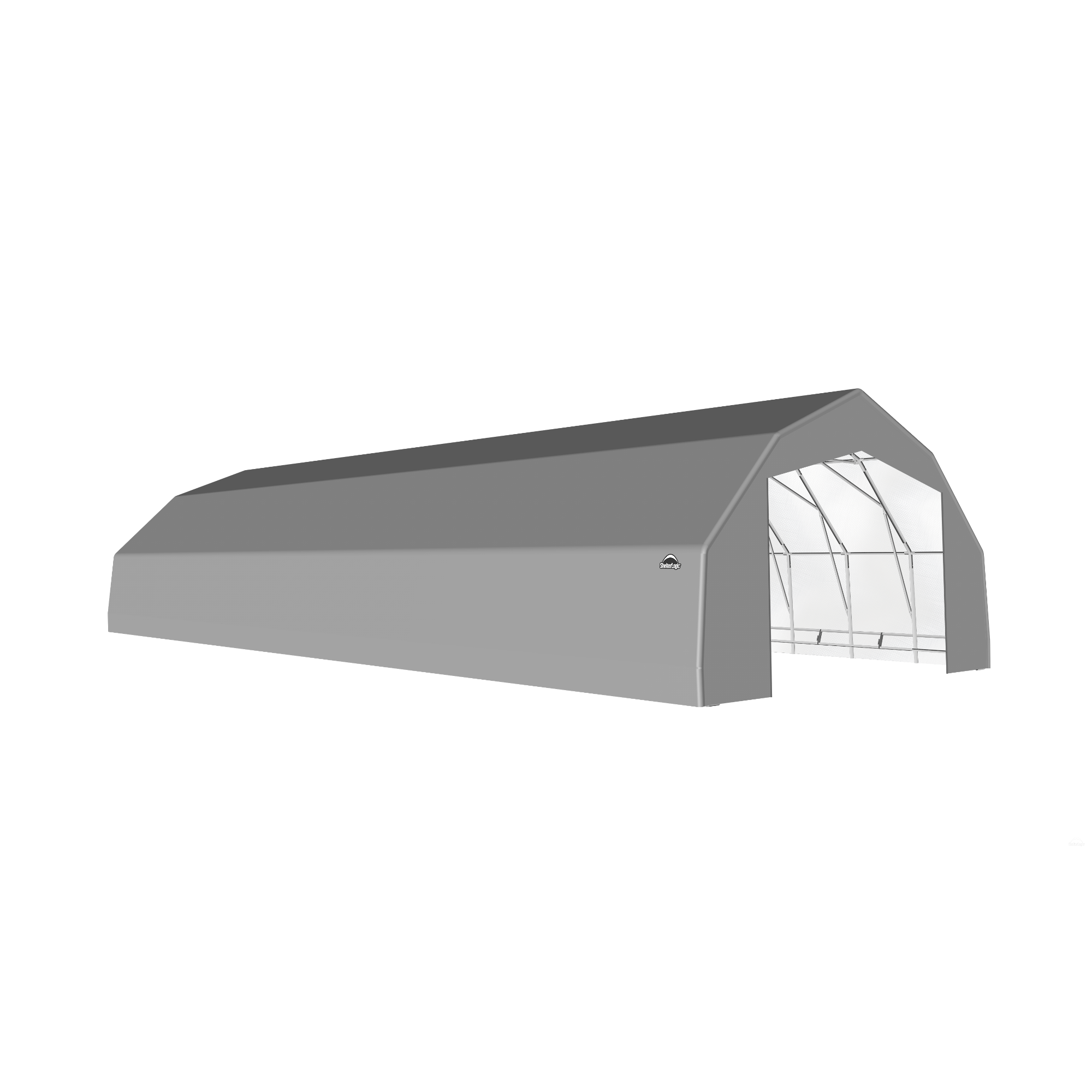 SP Barn 25X56X14 Gray 14 oz PE Shelter