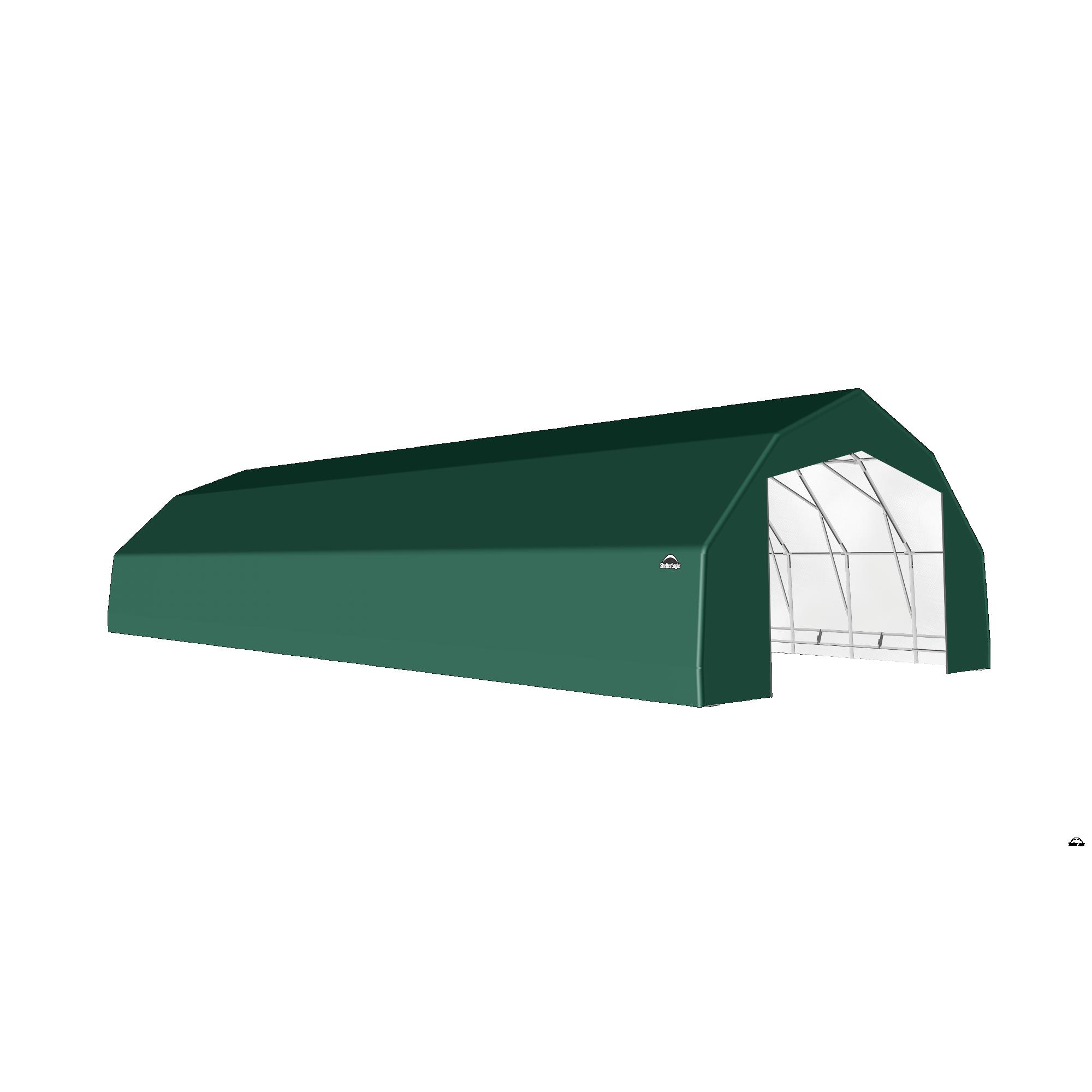 SP Barn 25X68X14 Green 14 oz PE Shelter