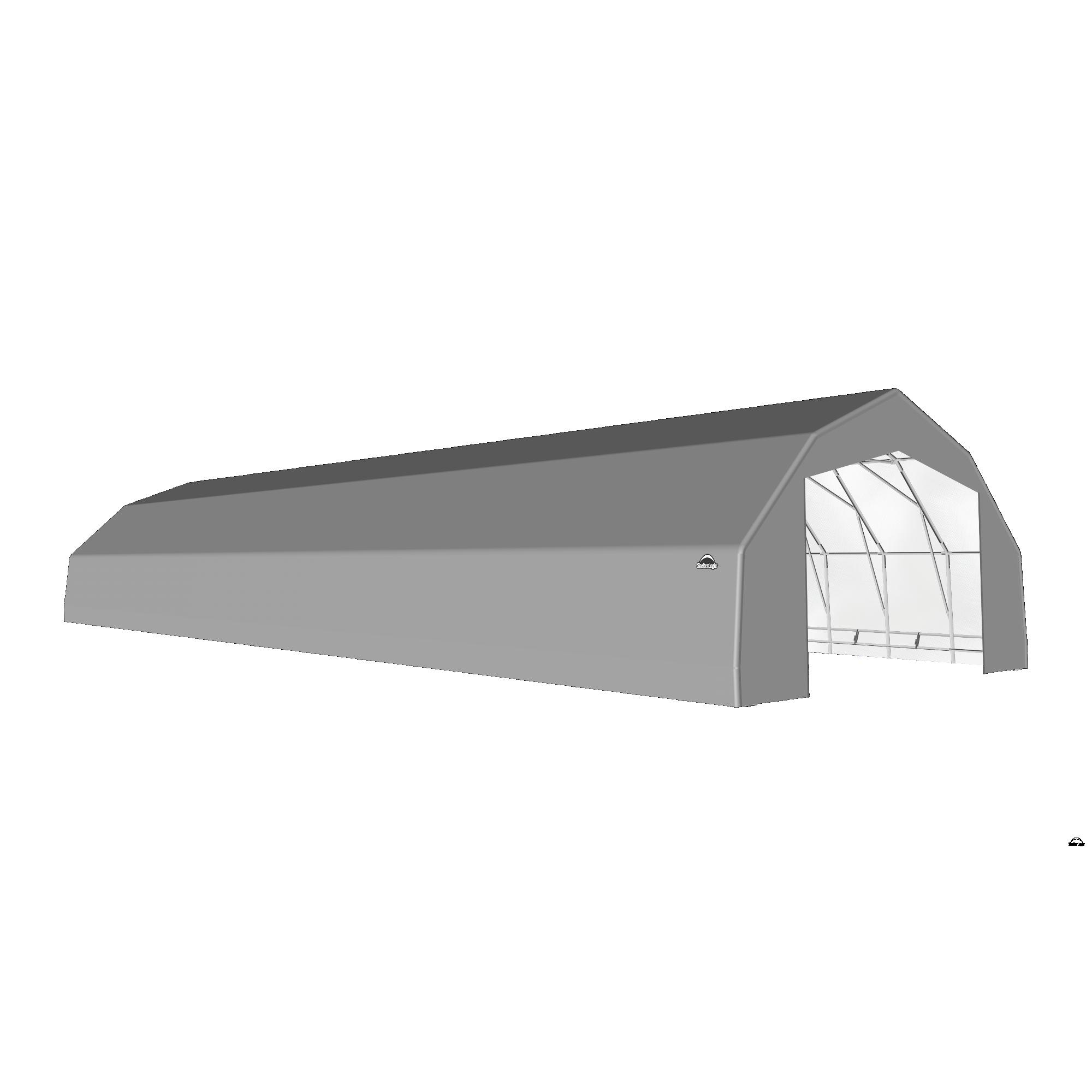 SP Barn 25X80X14 Gray 14 oz PE Shelter