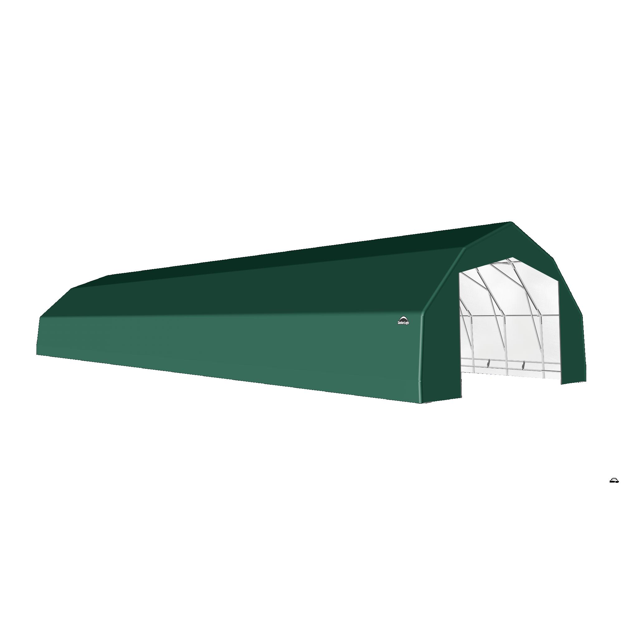 SP Barn 25X76X14 Green 14 oz PE Shelter