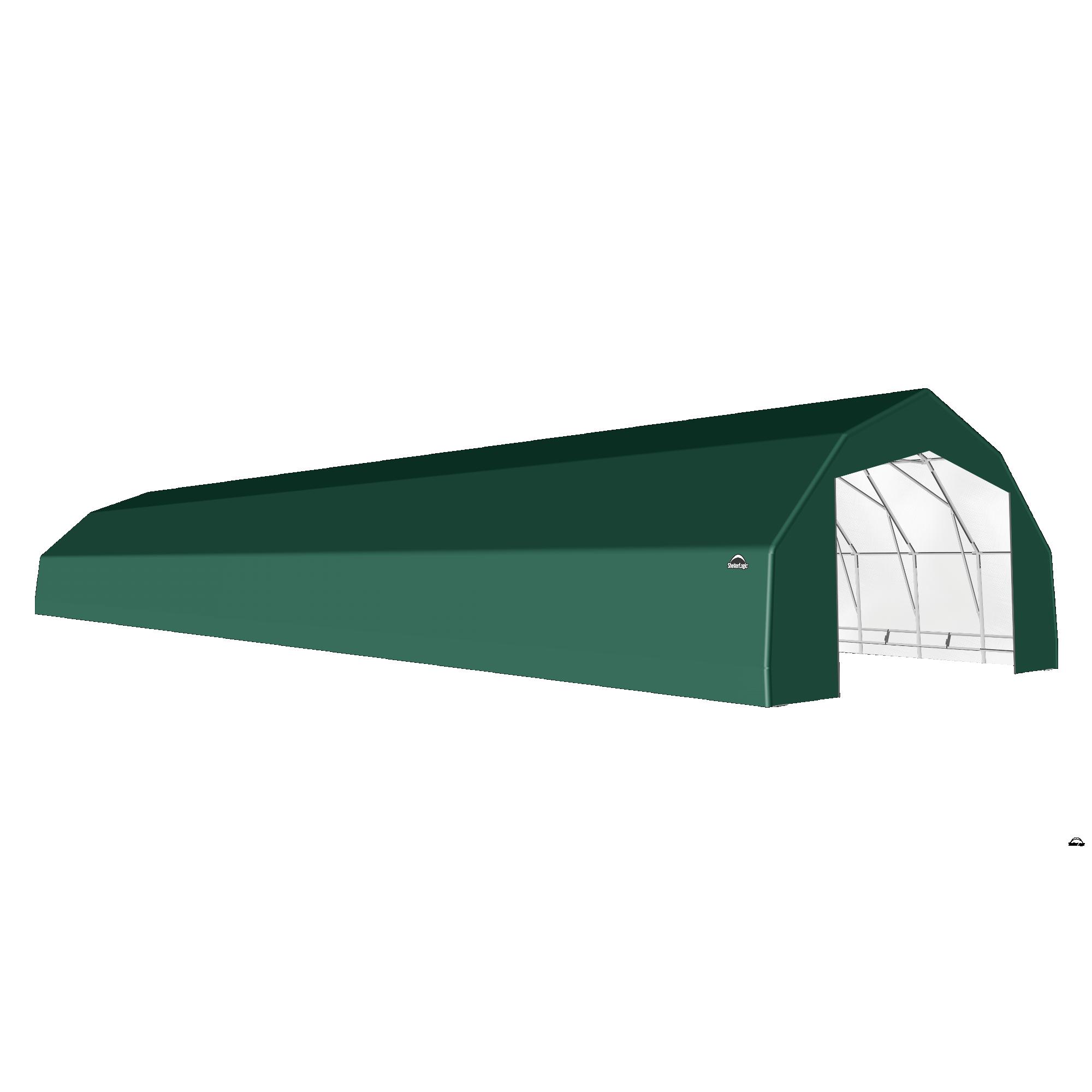 SP Barn 25X92X14 Green 14 oz PE Shelter