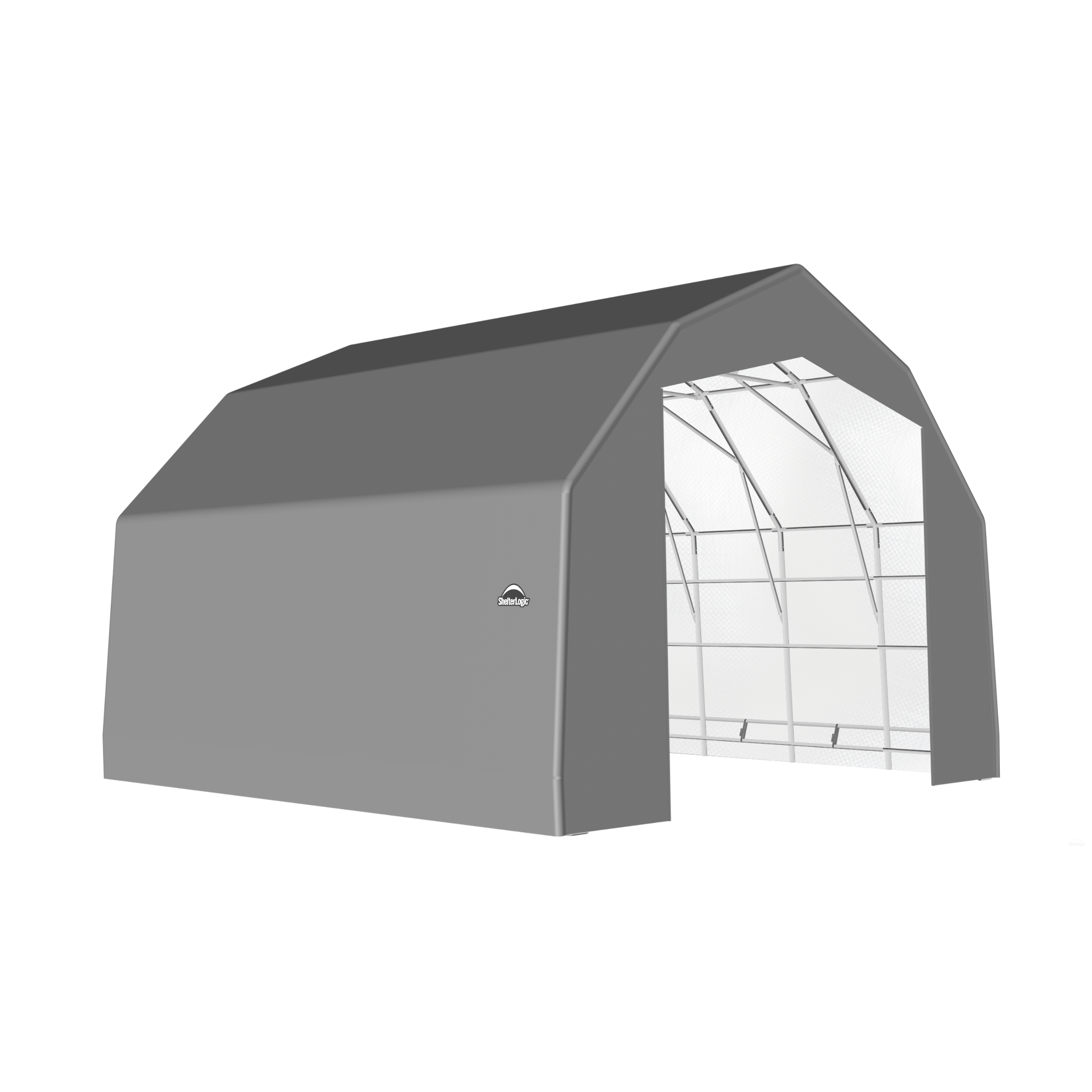 SP Barn 25X24X17 Gray 14 oz PE Shelter