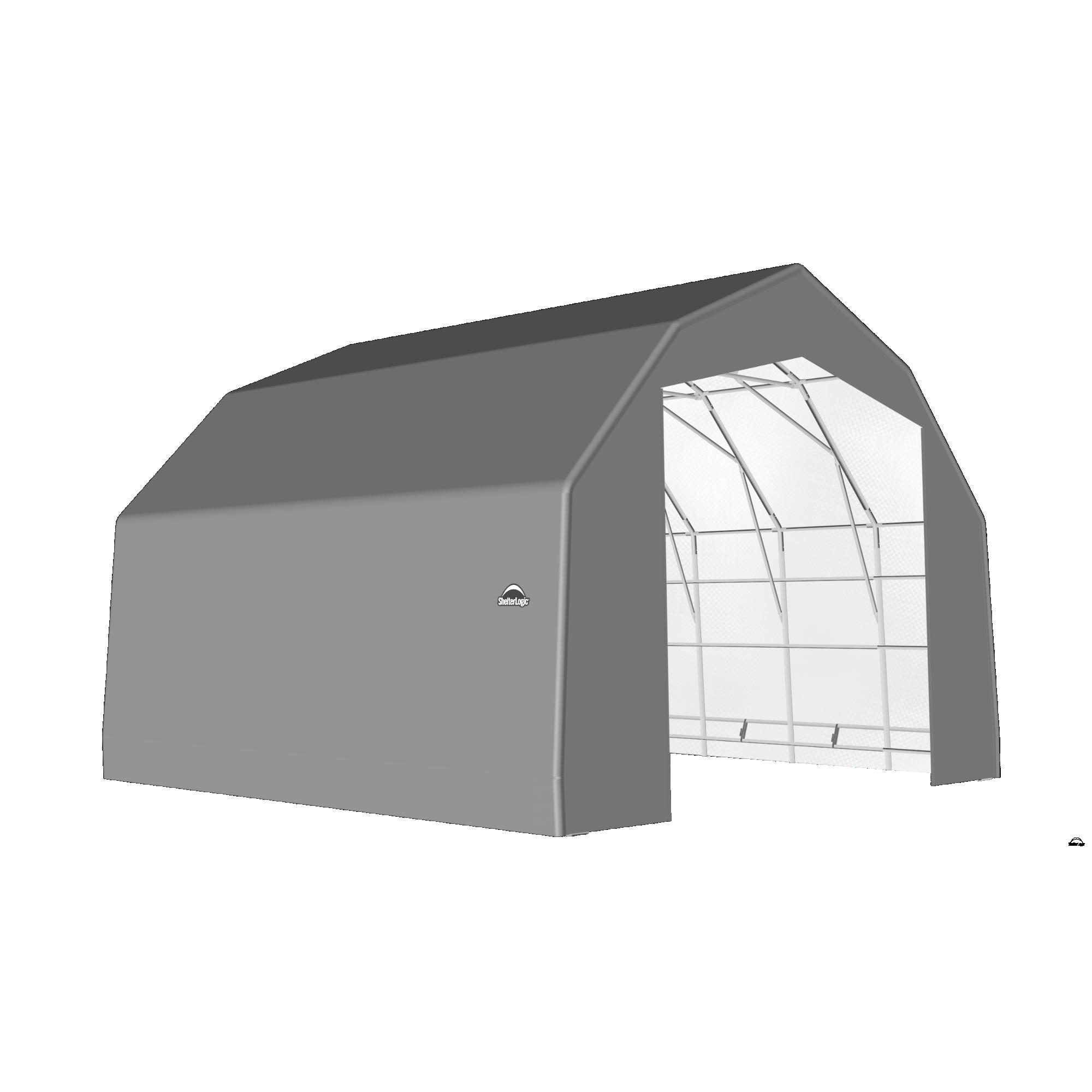 SP Barn 25X20X17 Gray 14 oz PE Shelter