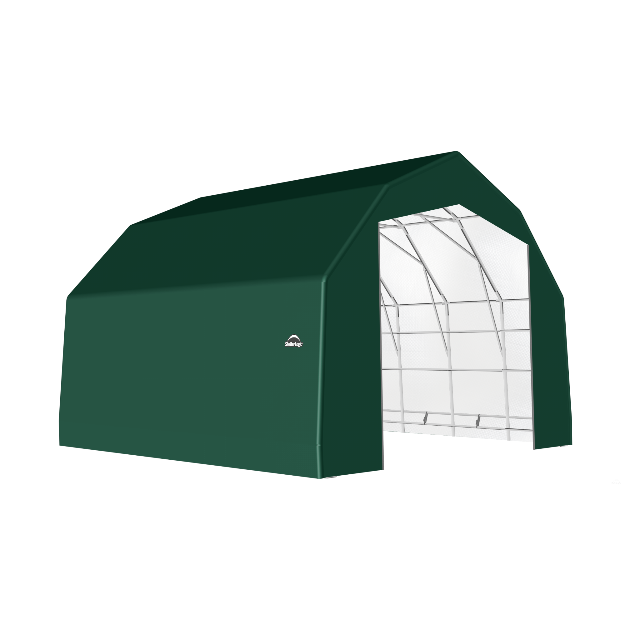 SP Barn 25X20X17 Green 14 oz PE Shelter
