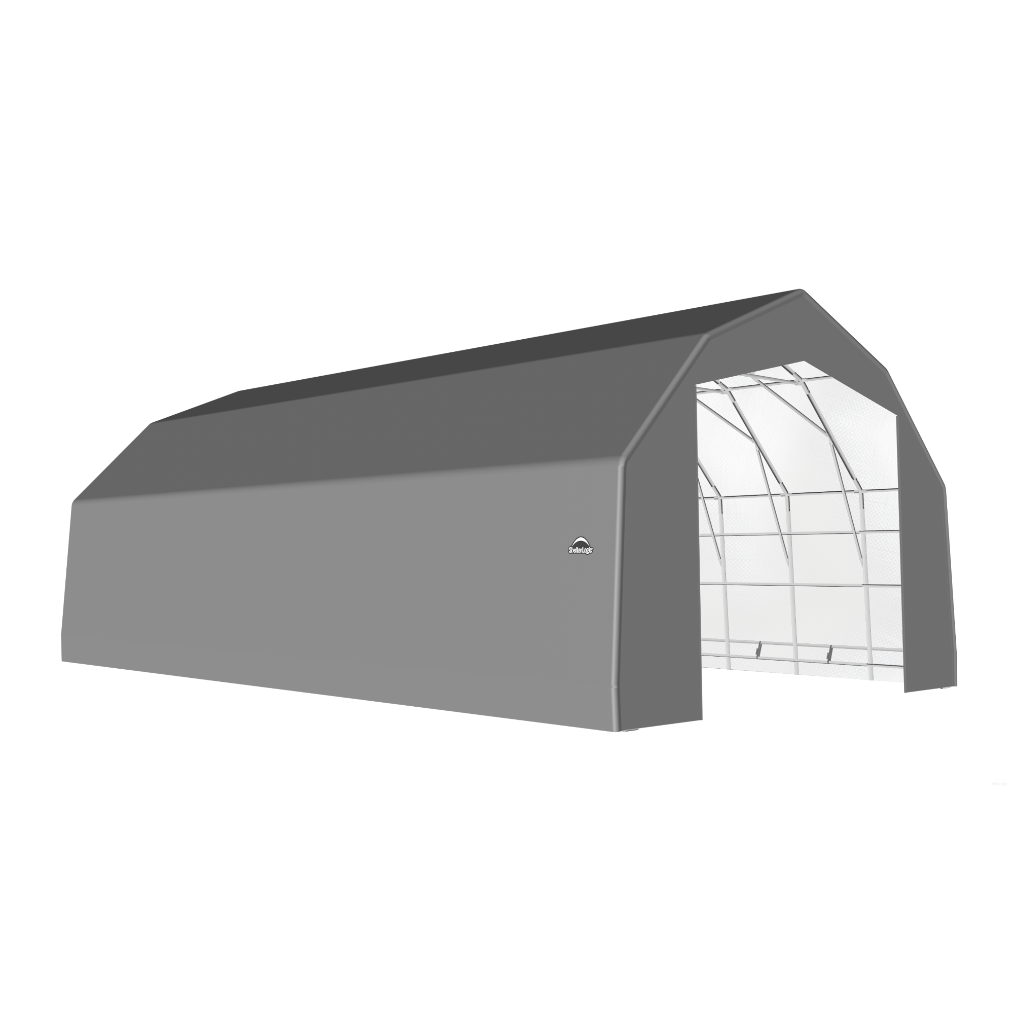 SP Barn 25X48X17 Gray 14 oz PE Shelter