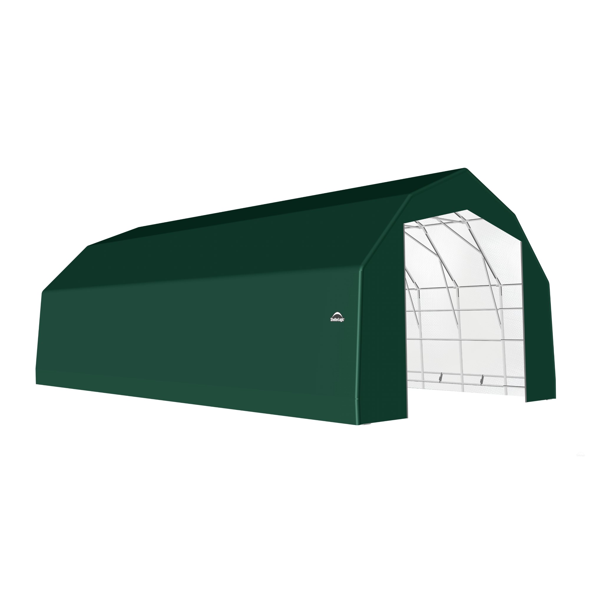 SP Barn 25X48X17 Green 14 oz PE Shelter