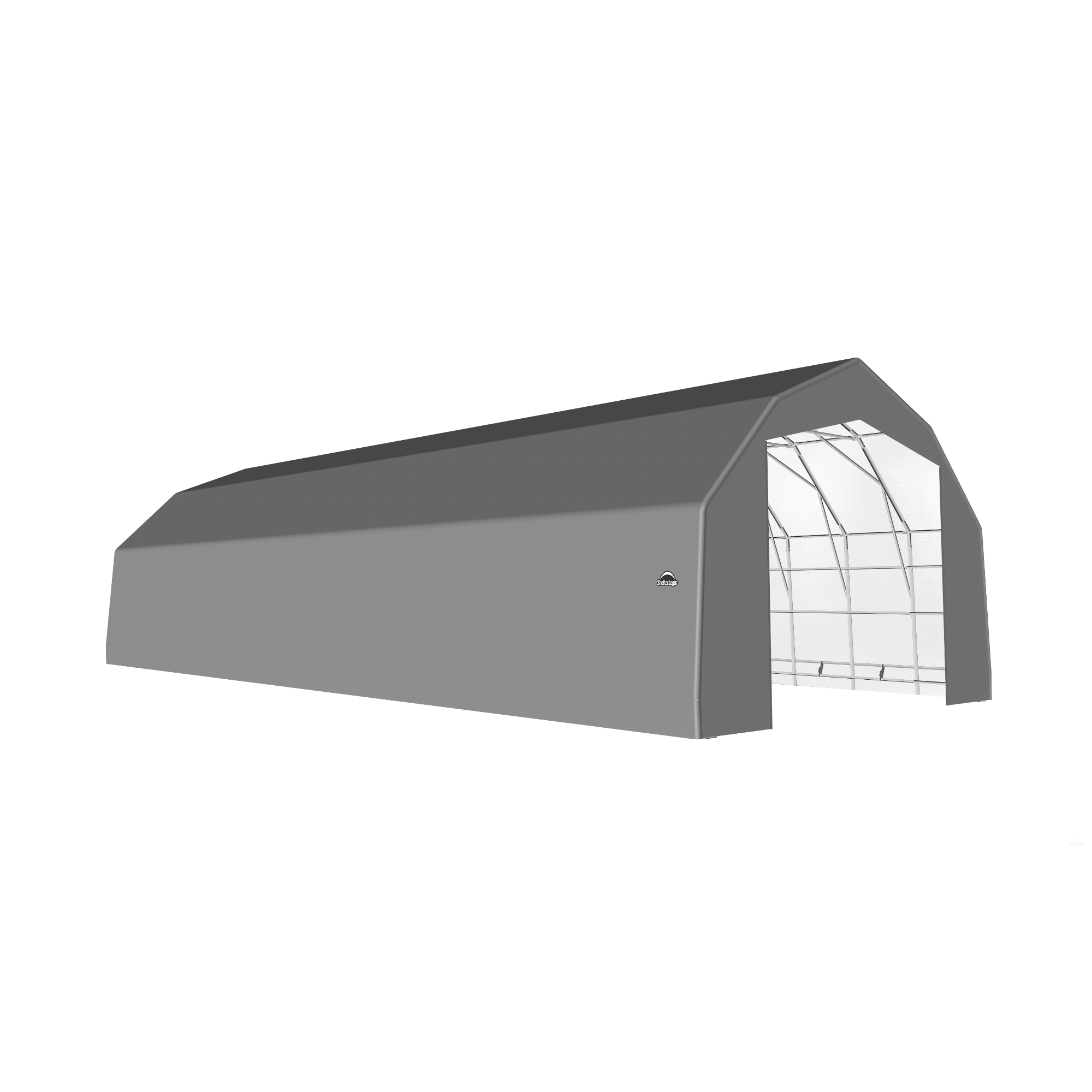 SP Barn 25X68X17 Gray 14 oz PE Shelter