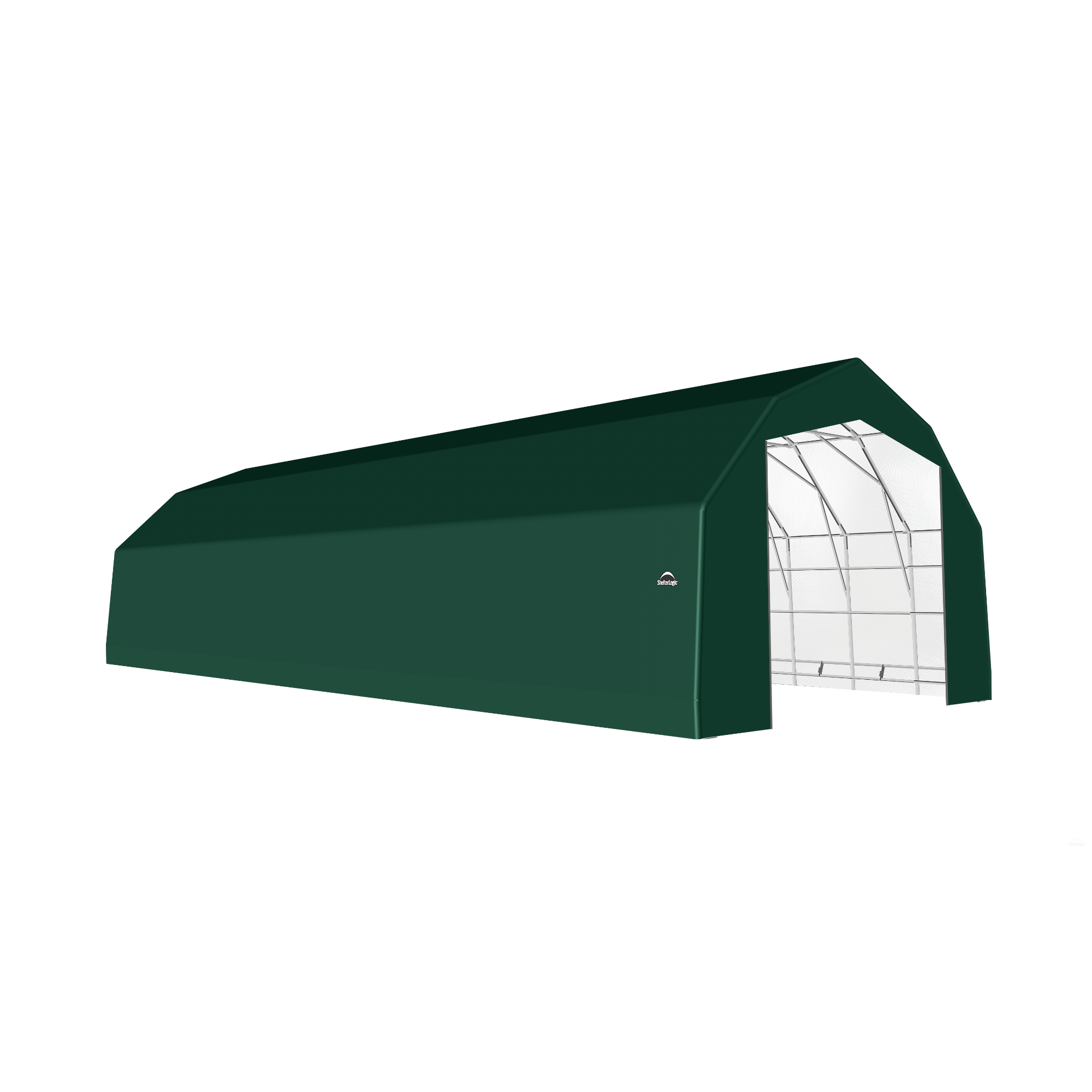 SP Barn 25X64X17 Green 14 oz PE Shelter