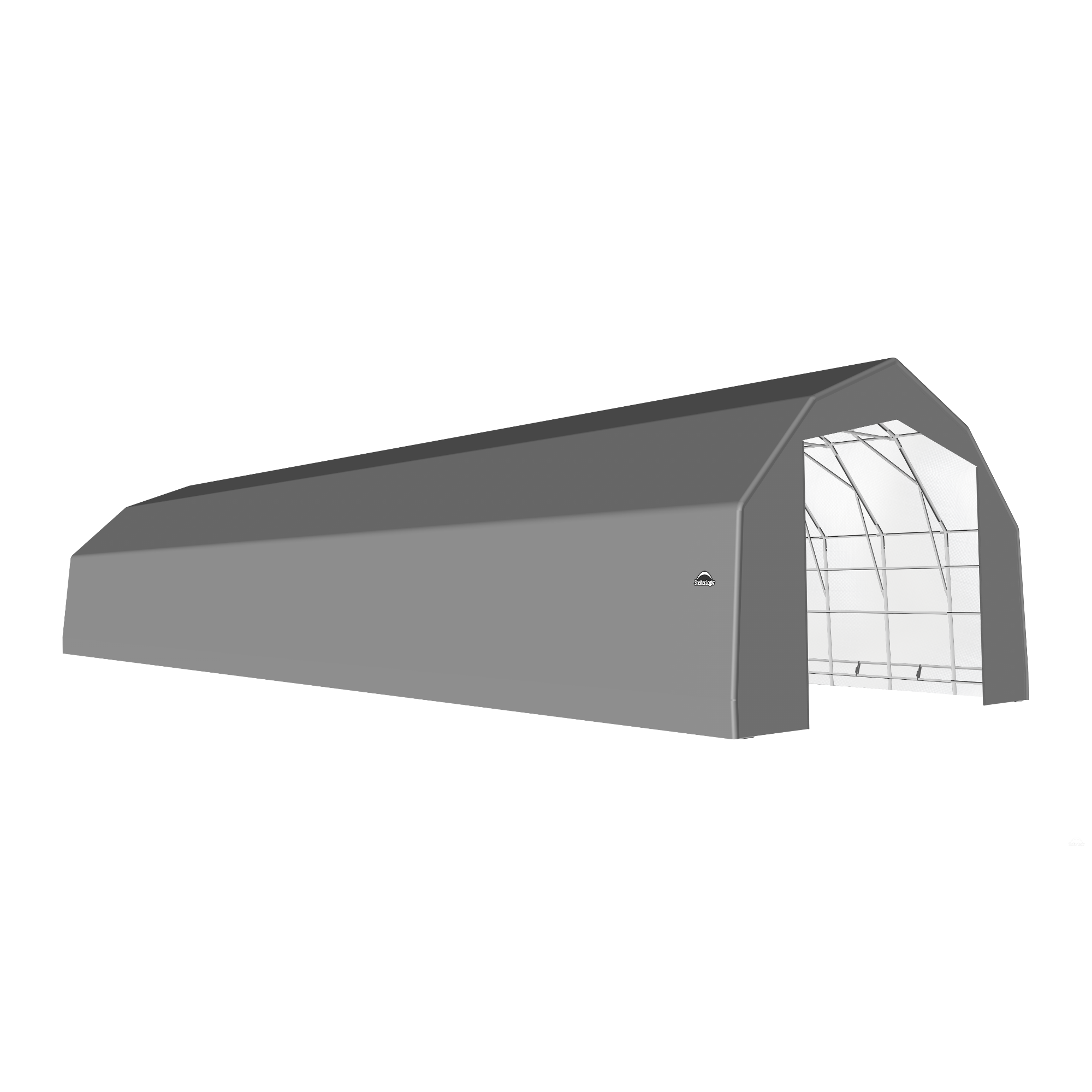 SP Barn 25X72X17 Gray 14 oz PE Shelter