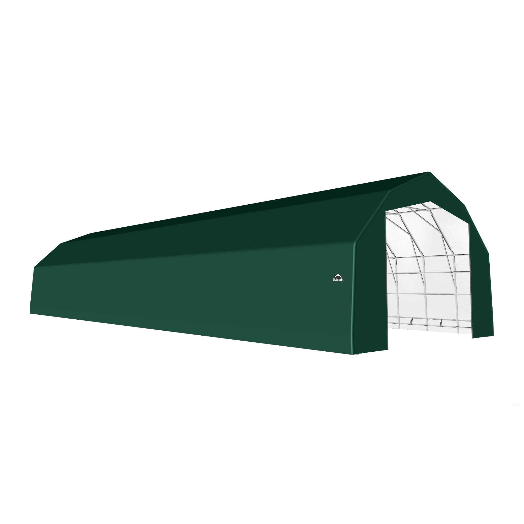 SP Barn 25X72X17 Green 14 oz PE Shelter
