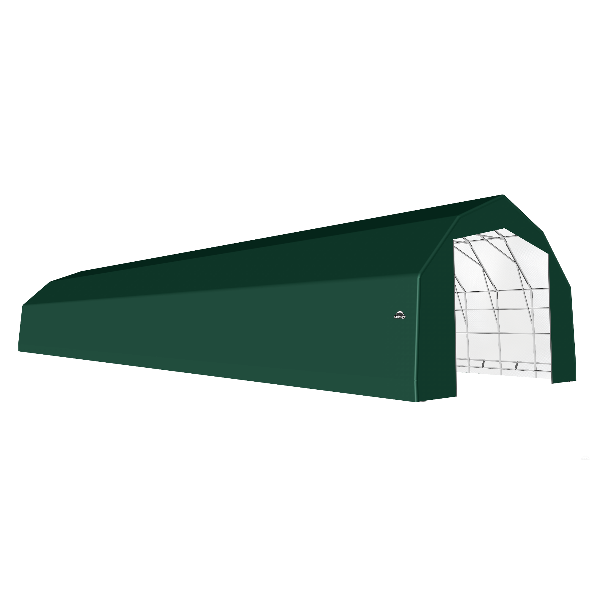 SP Barn 25X96X17 Green 14 oz PE Shelter