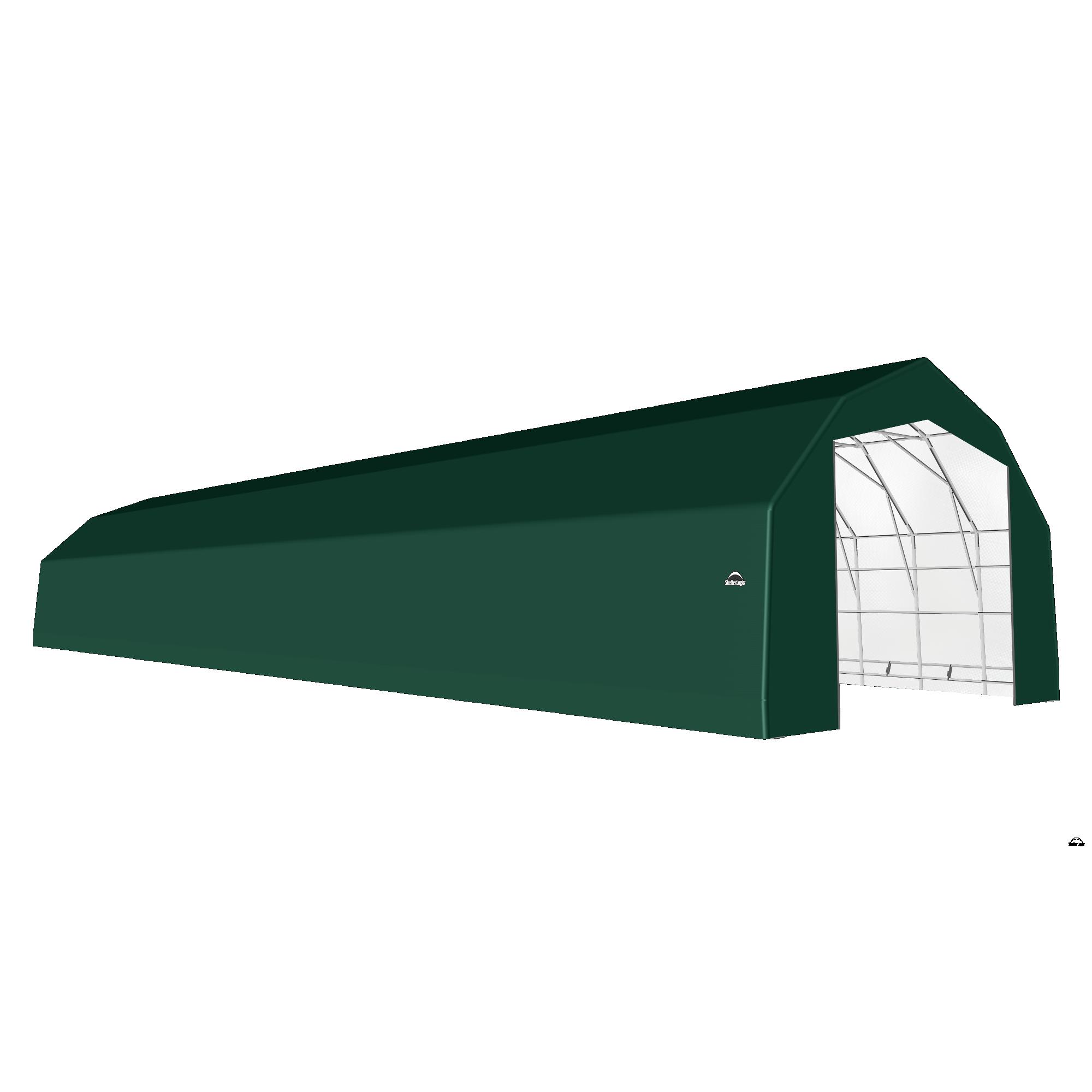 SP Barn 25X100X17 Green 14 oz PE Shelter