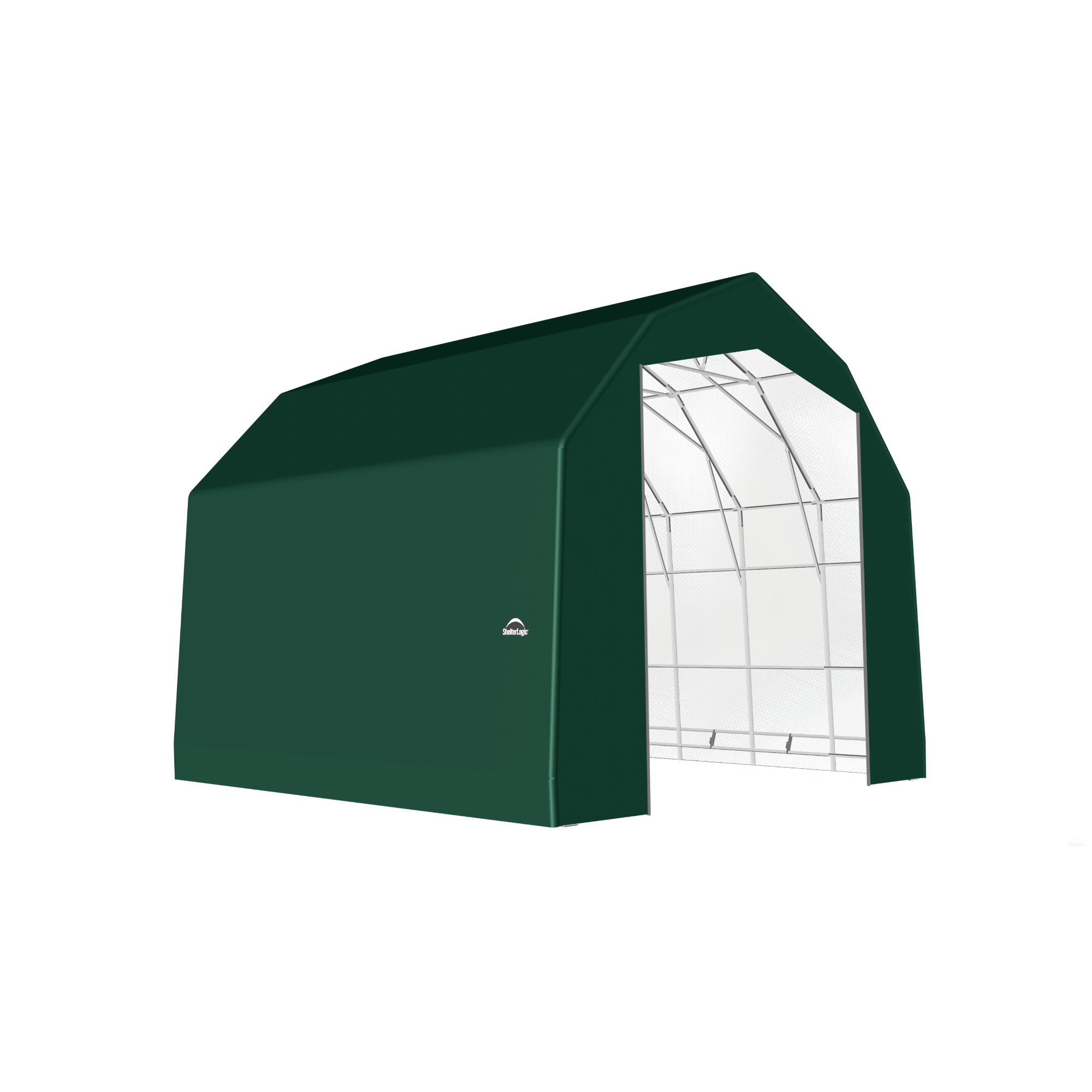 SP Barn 25X28X20 Green 14 oz PE Shelter