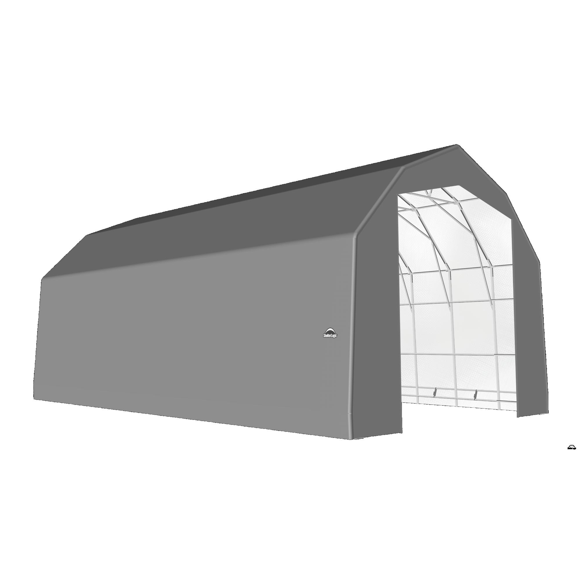 SP Barn 25X32X20 Gray 14 oz PE Shelter