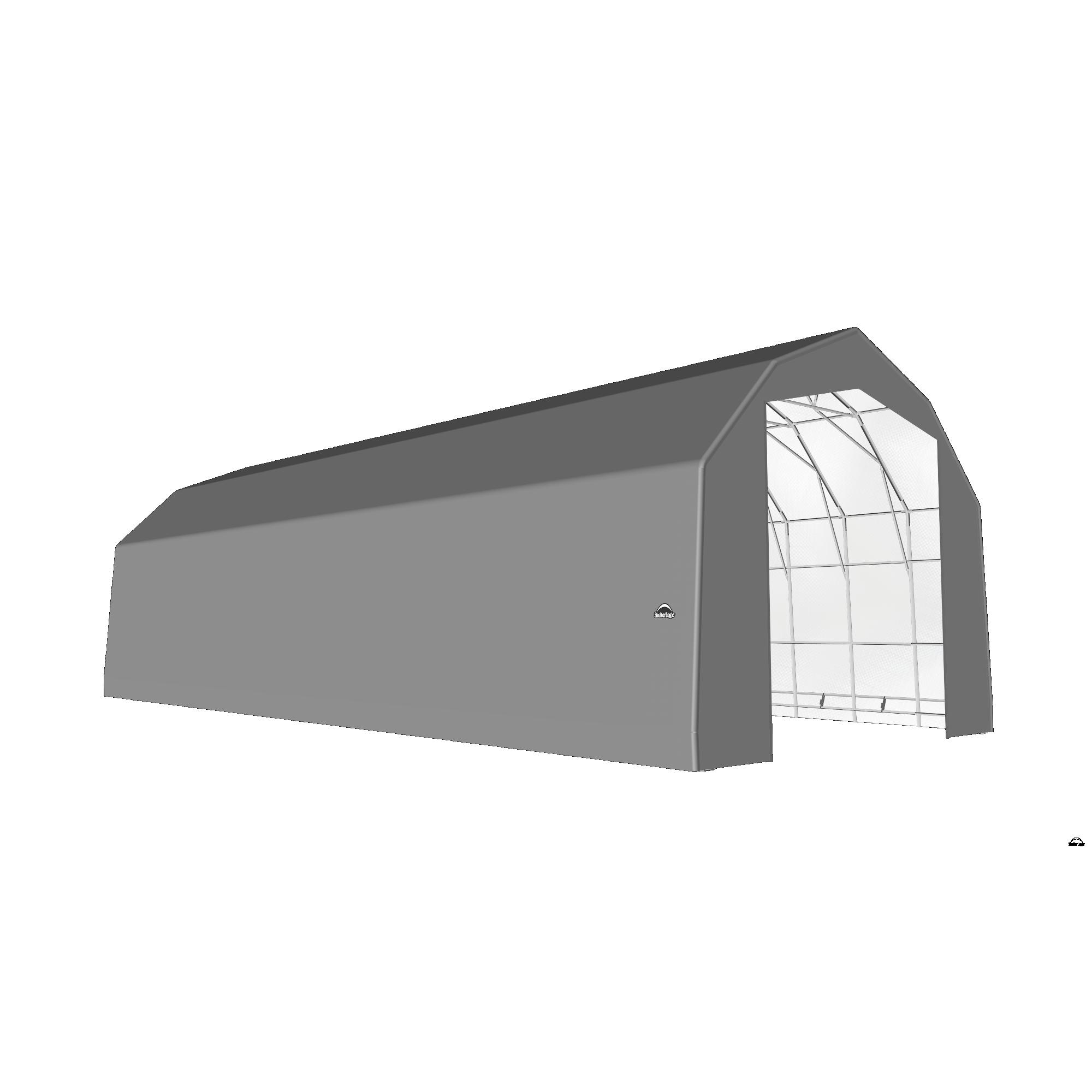 SP Barn 25X60X20 Gray 14 oz PE Shelter