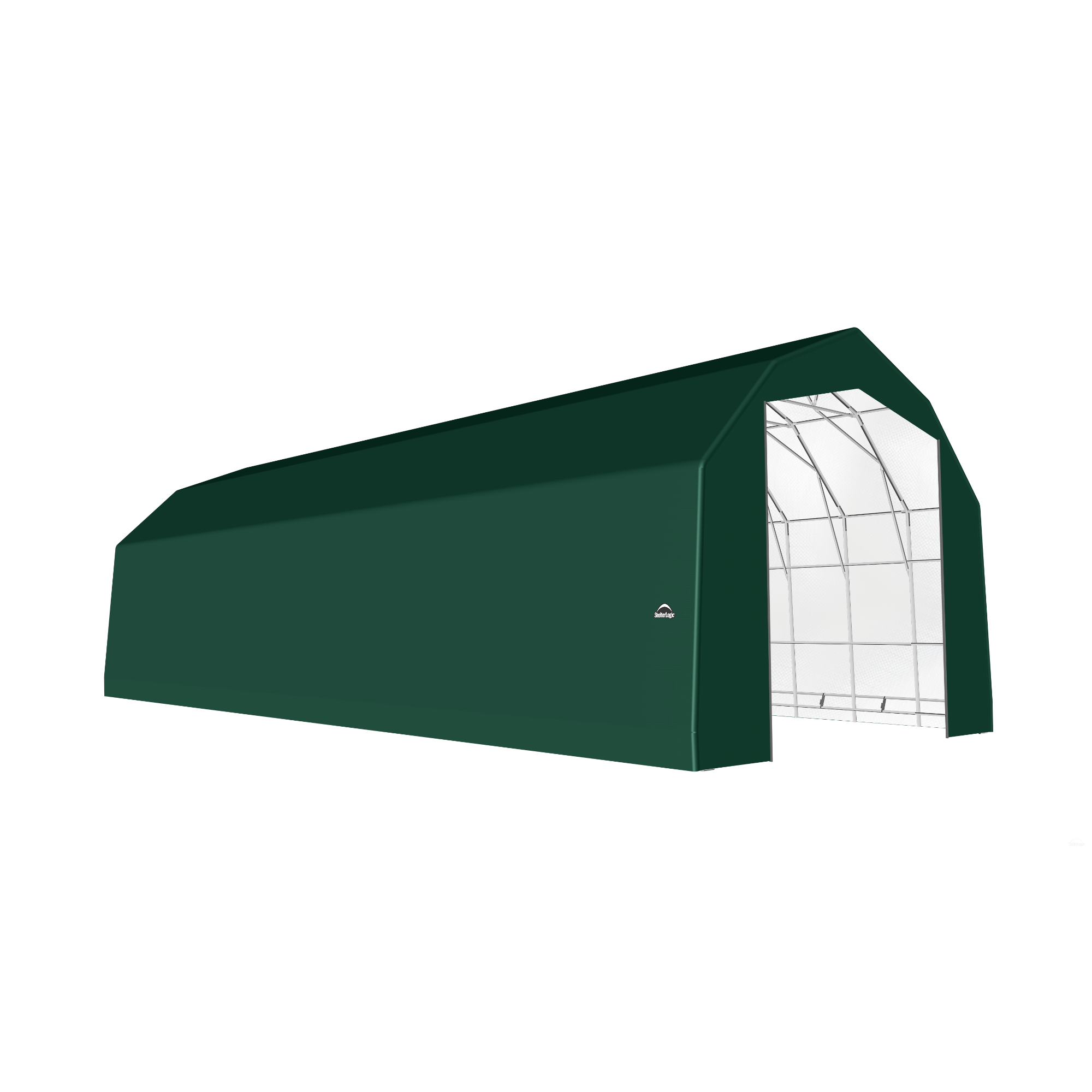 SP Barn 25X56X20 Green 14 oz PE Shelter