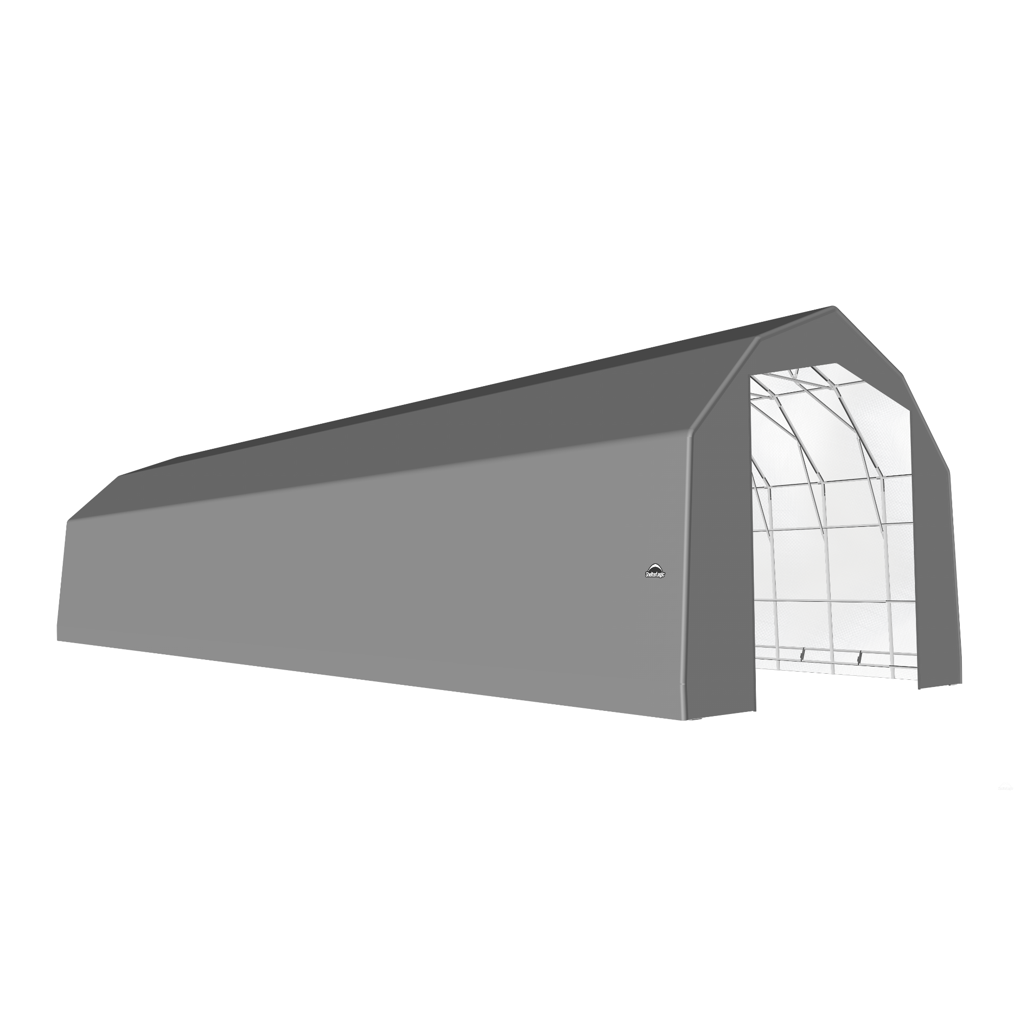 SP Barn 25X72X20 Gray 14 oz PE Shelter