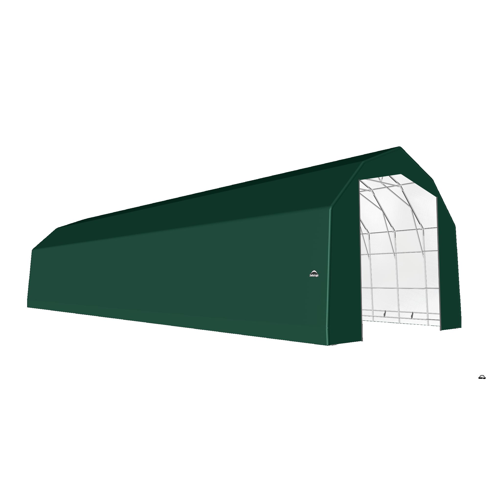 SP Barn 25X88X20 Green 14 oz PE Shelter