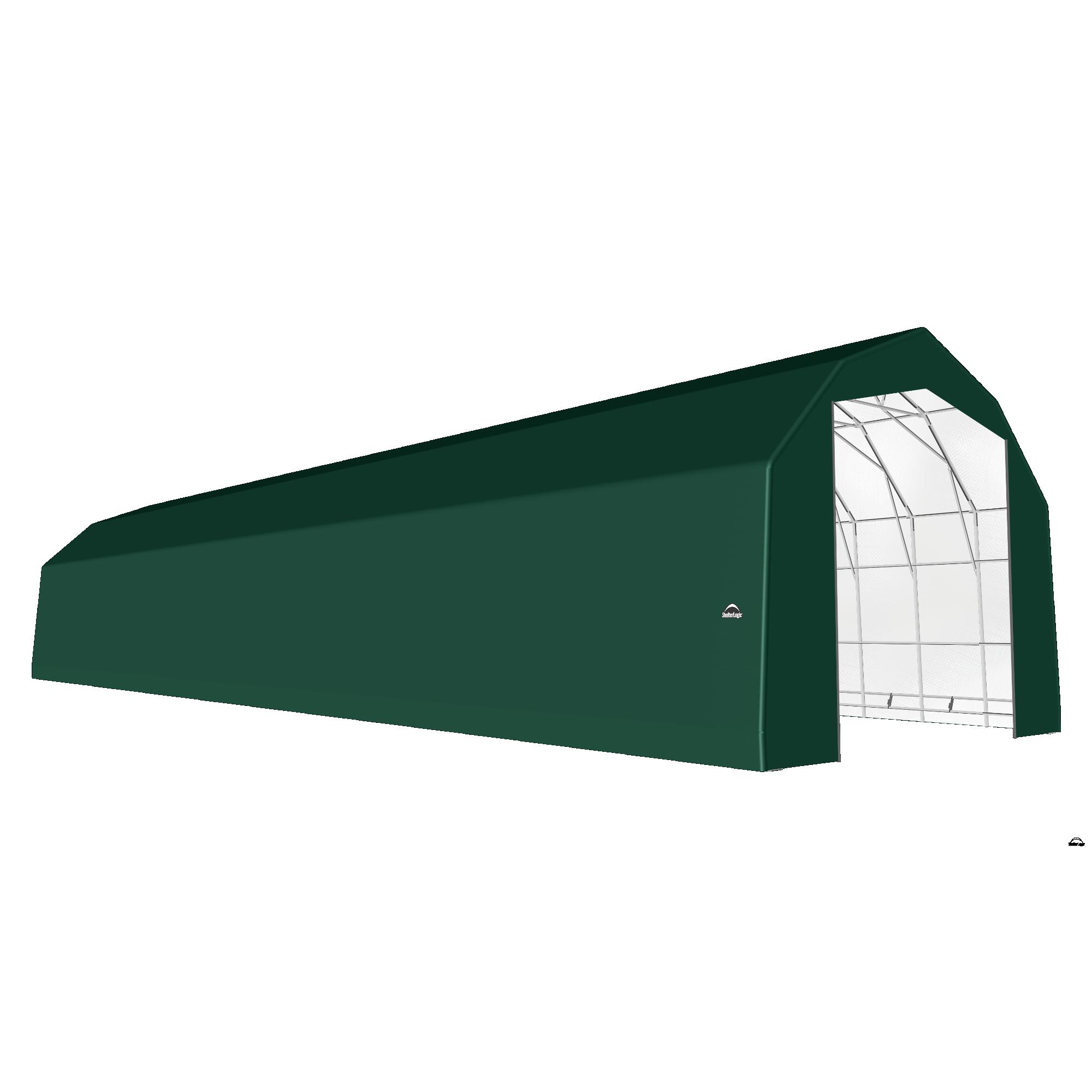 SP Barn 25X96X20 Green 14 oz PE Shelter