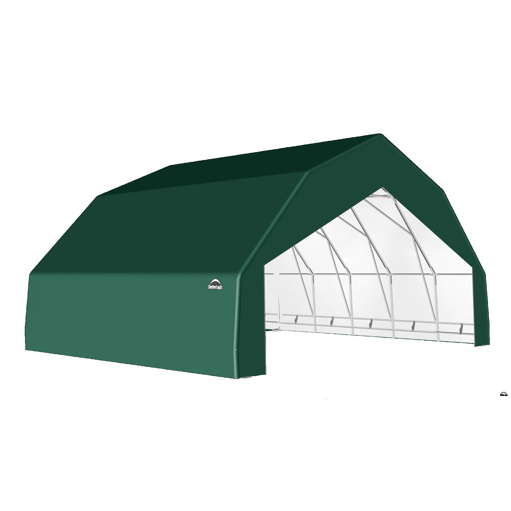 SP Barn 30X28X15 Green 14 oz PE Shelter