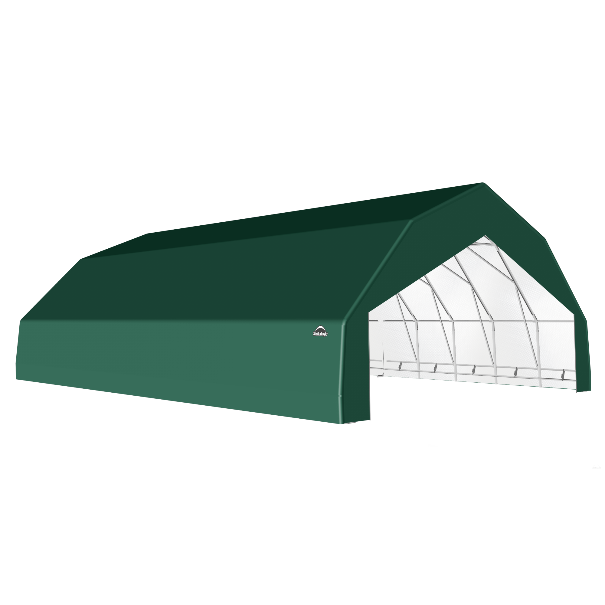 SP Barn 30X40X15 Green 14 oz PE Shelter