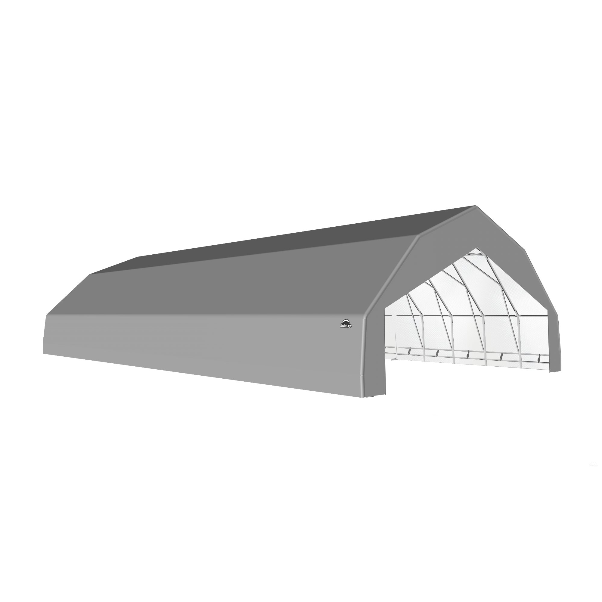 SP Barn 30X60X15 Gray 14 oz PE Shelter