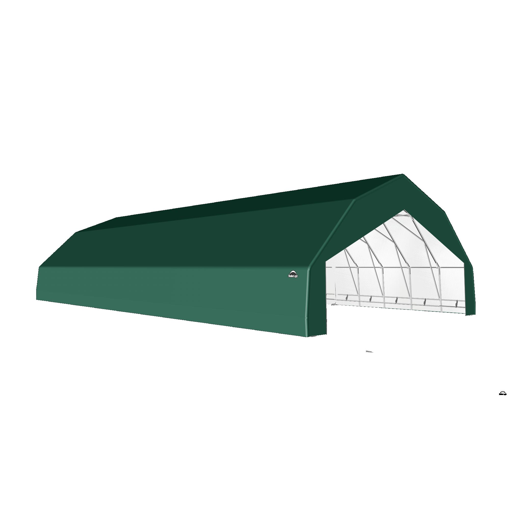 SP Barn 30X52X15 Green 14 oz PE Shelter