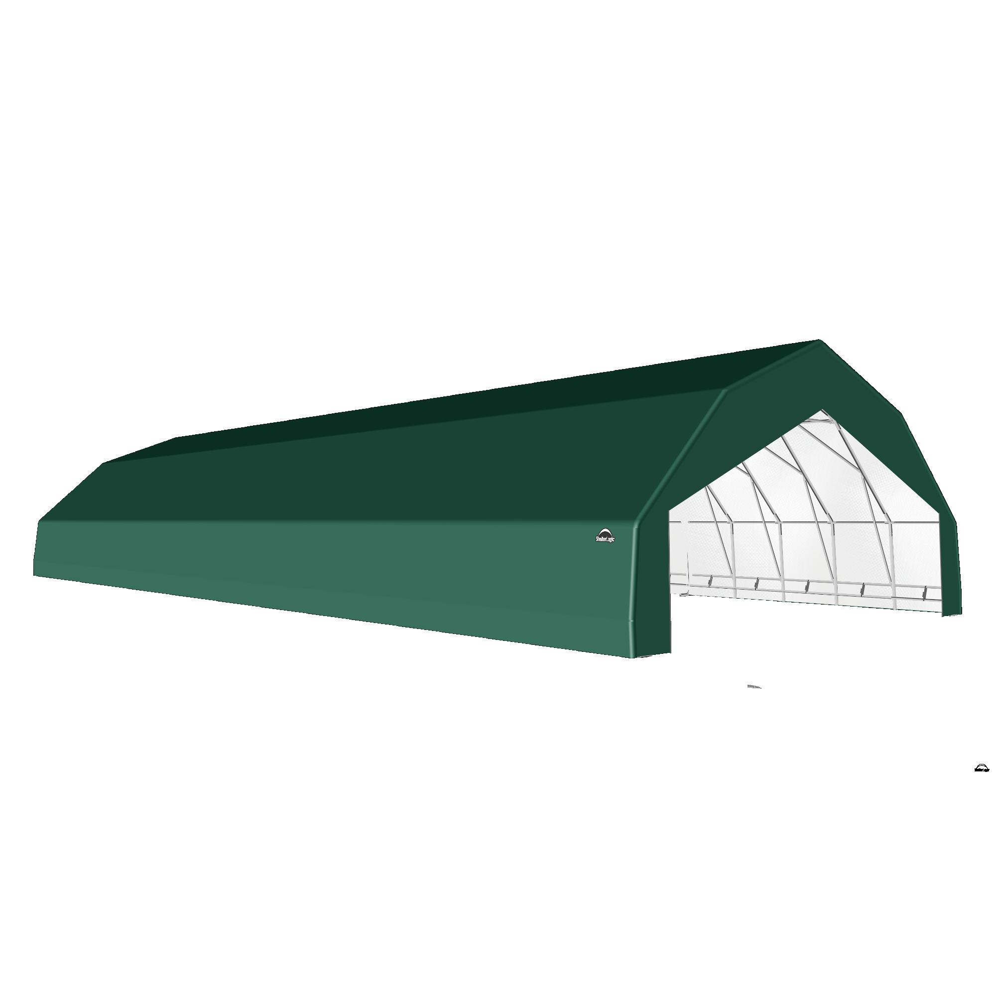 SP Barn 30X72X15 Green 14 oz PE Shelter