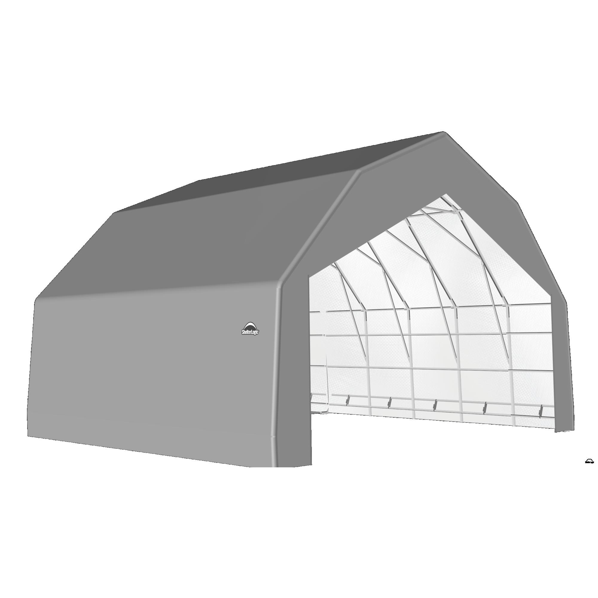 SP Barn 30X28X18 Gray 14 oz PE Shelter