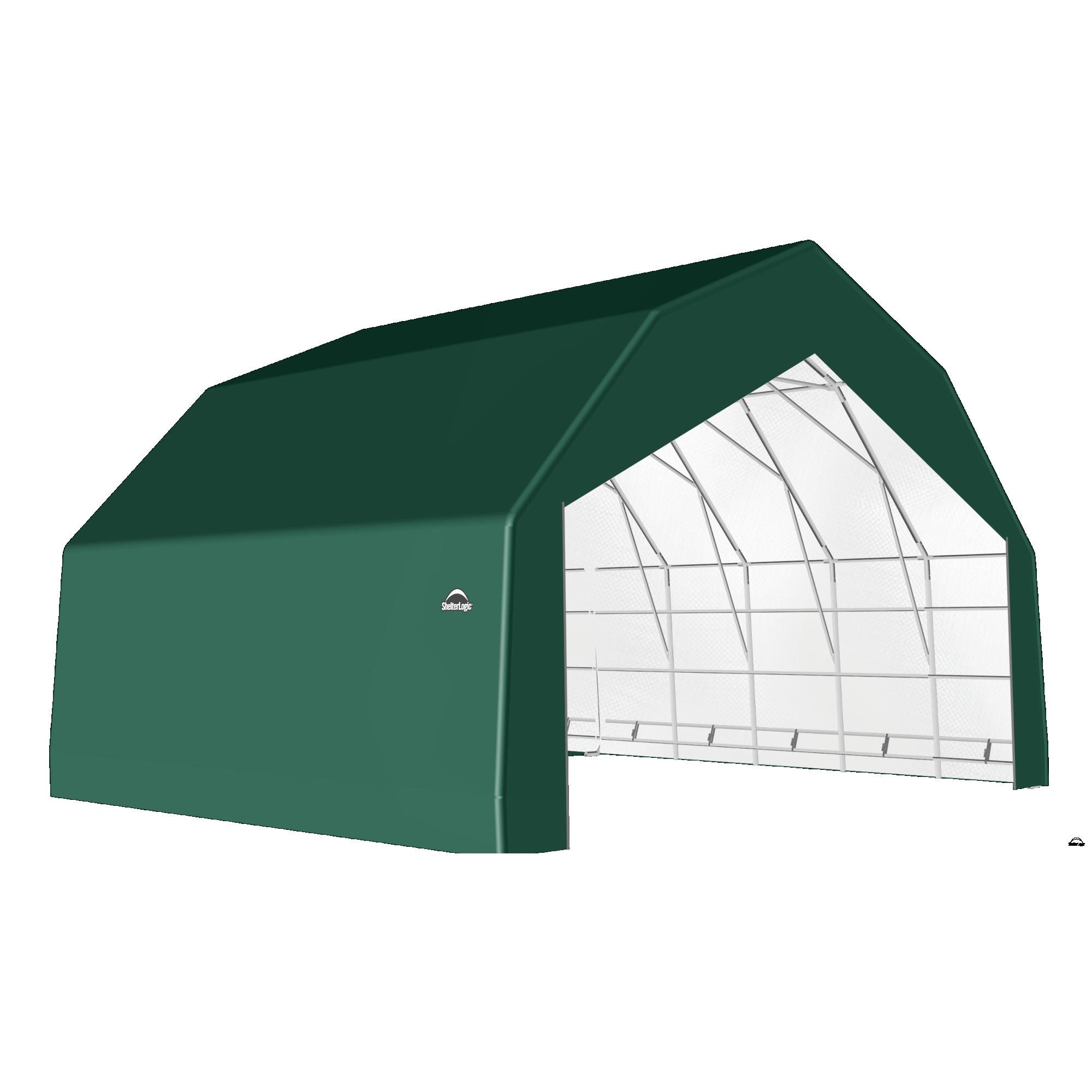 SP Barn 30X28X18 Green 14 oz PE Shelter