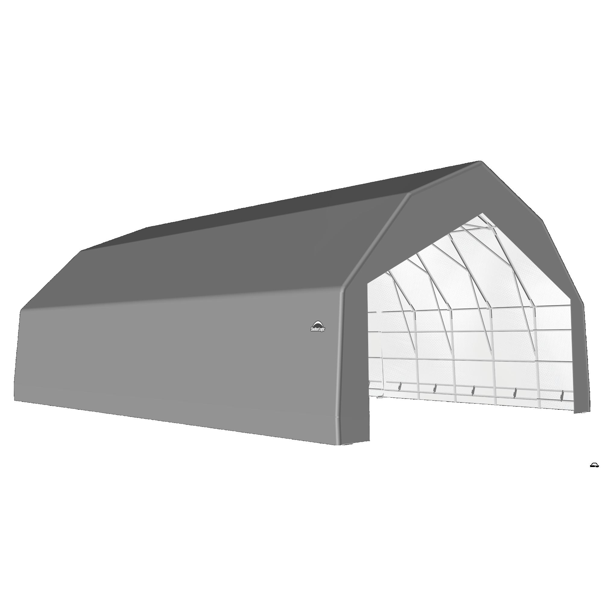 SP Barn 30X32X18 Gray 14 oz PE Shelter