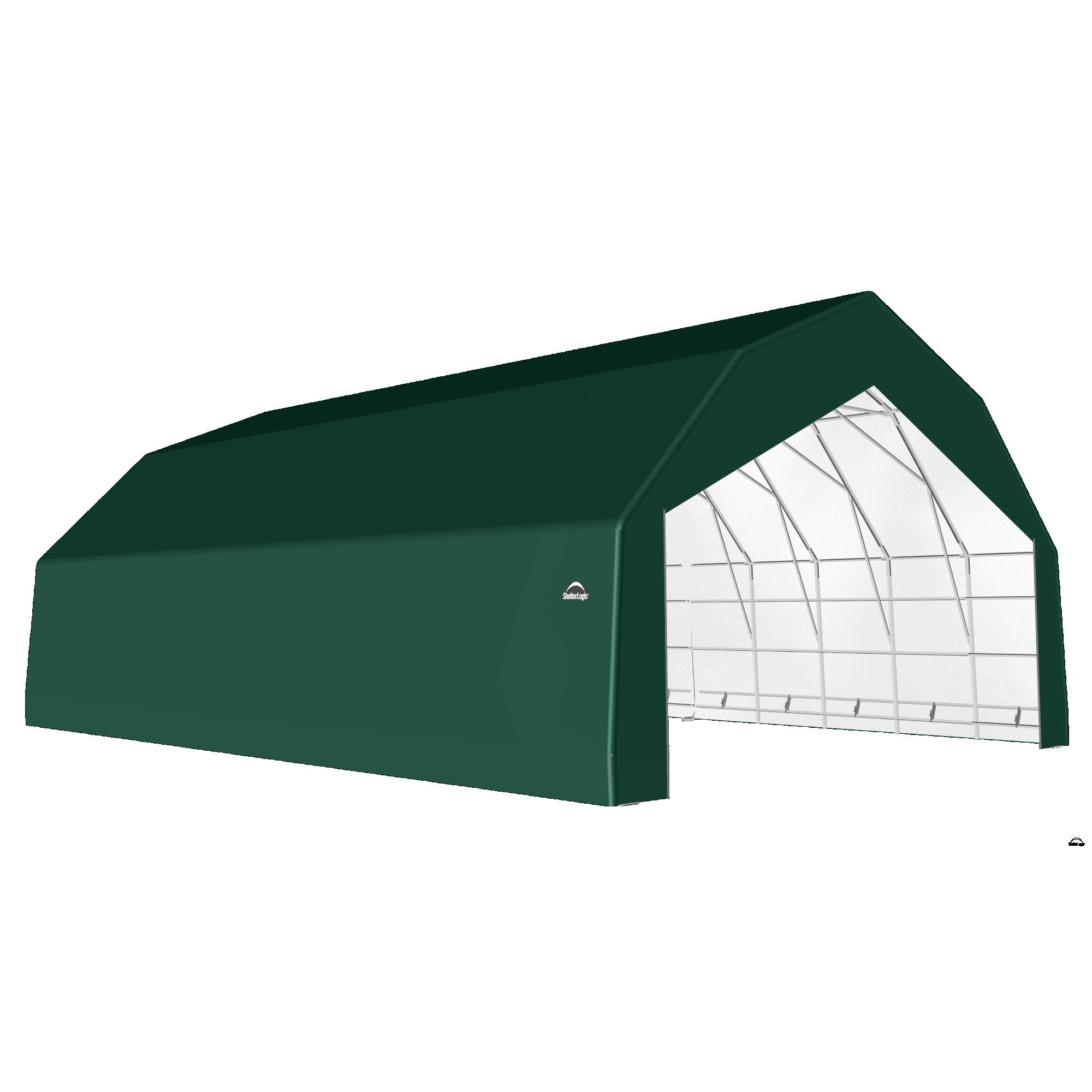 SP Barn 30X36X18 Green 14 oz PE Shelter
