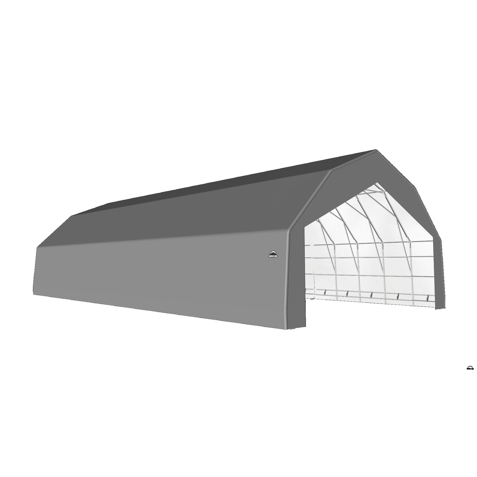 SP Barn 30X64X18 Gray 14 oz PE Shelter