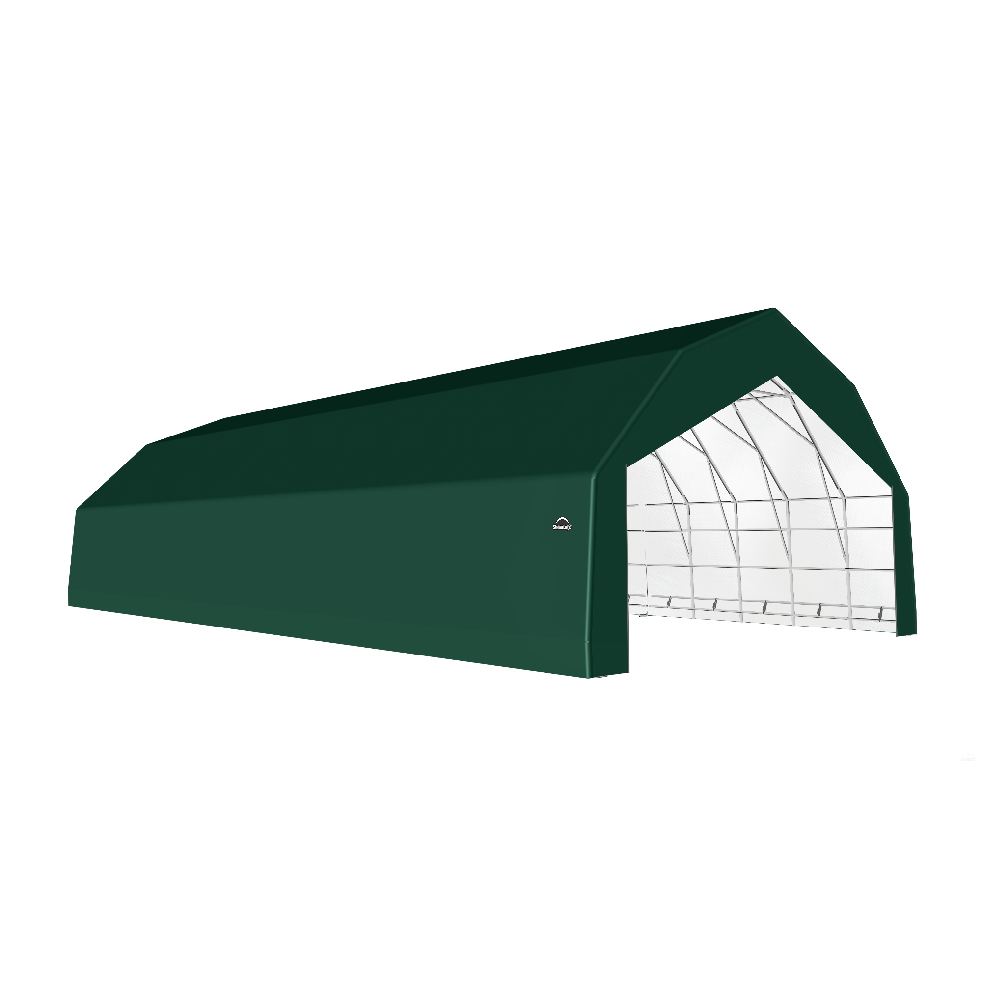 SP Barn 30X60X18 Green 14 oz PE Shelter