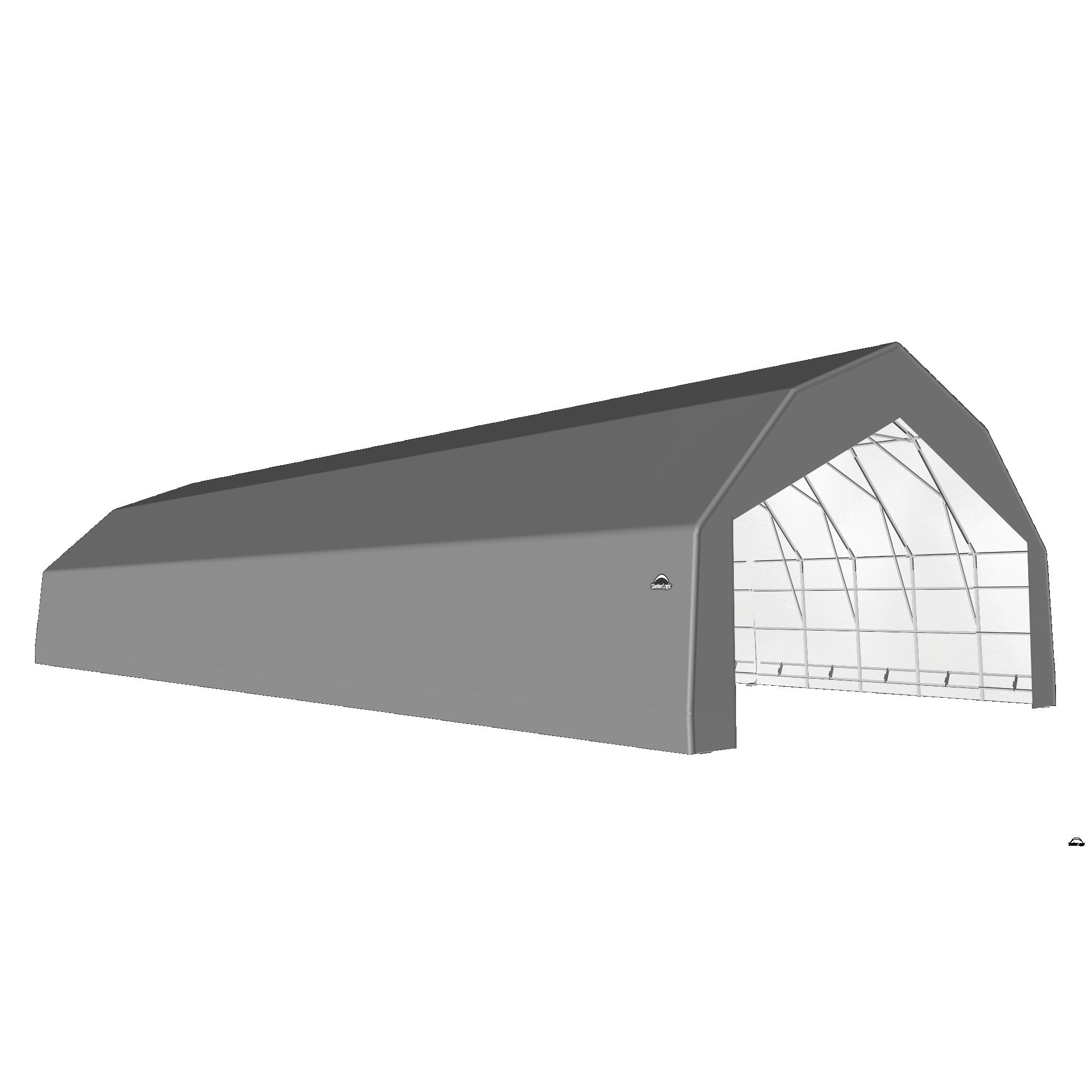 SP Barn 30X72X18 Gray 14 oz PE Shelter