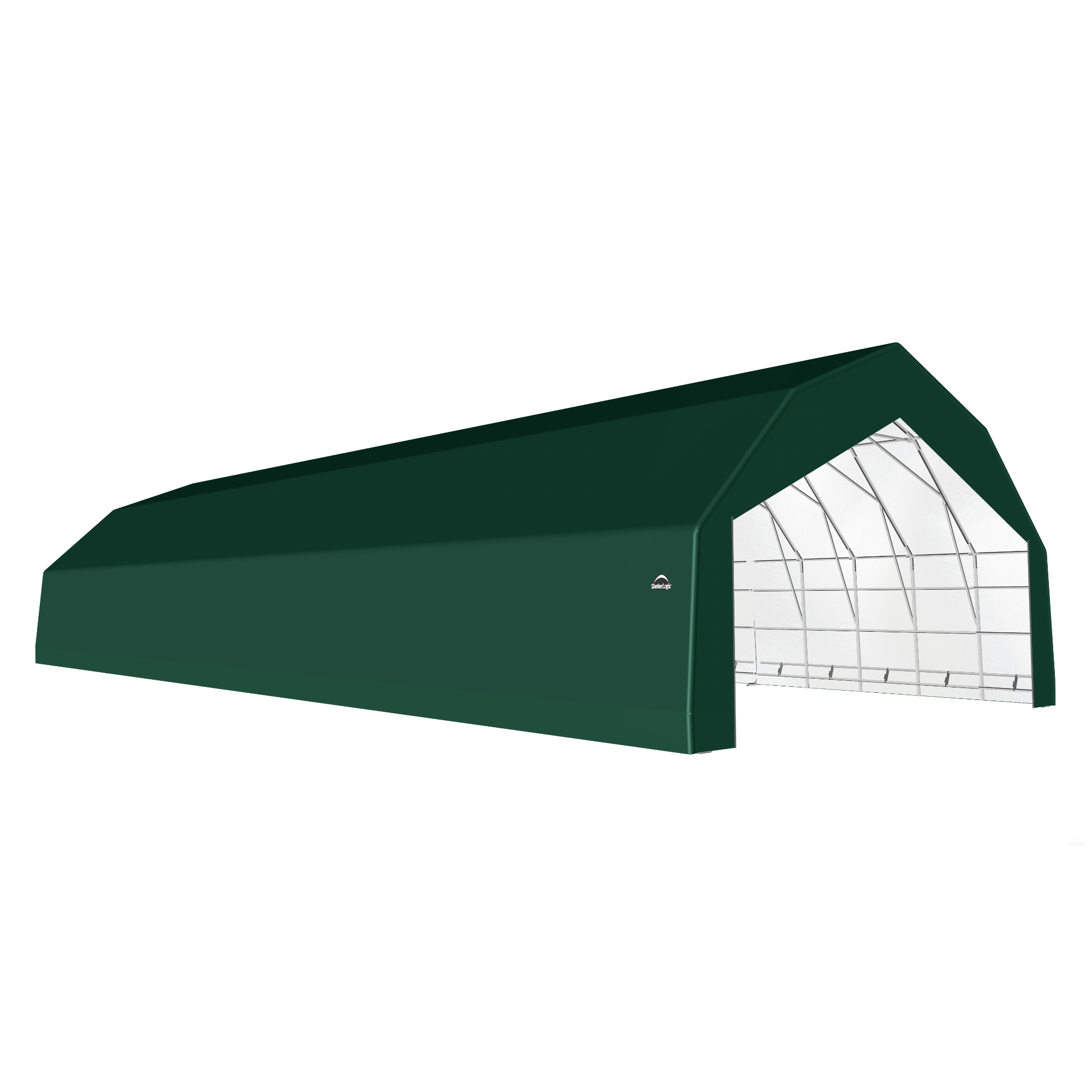 SP Barn 30X80X18 Green 14 oz PE Shelter