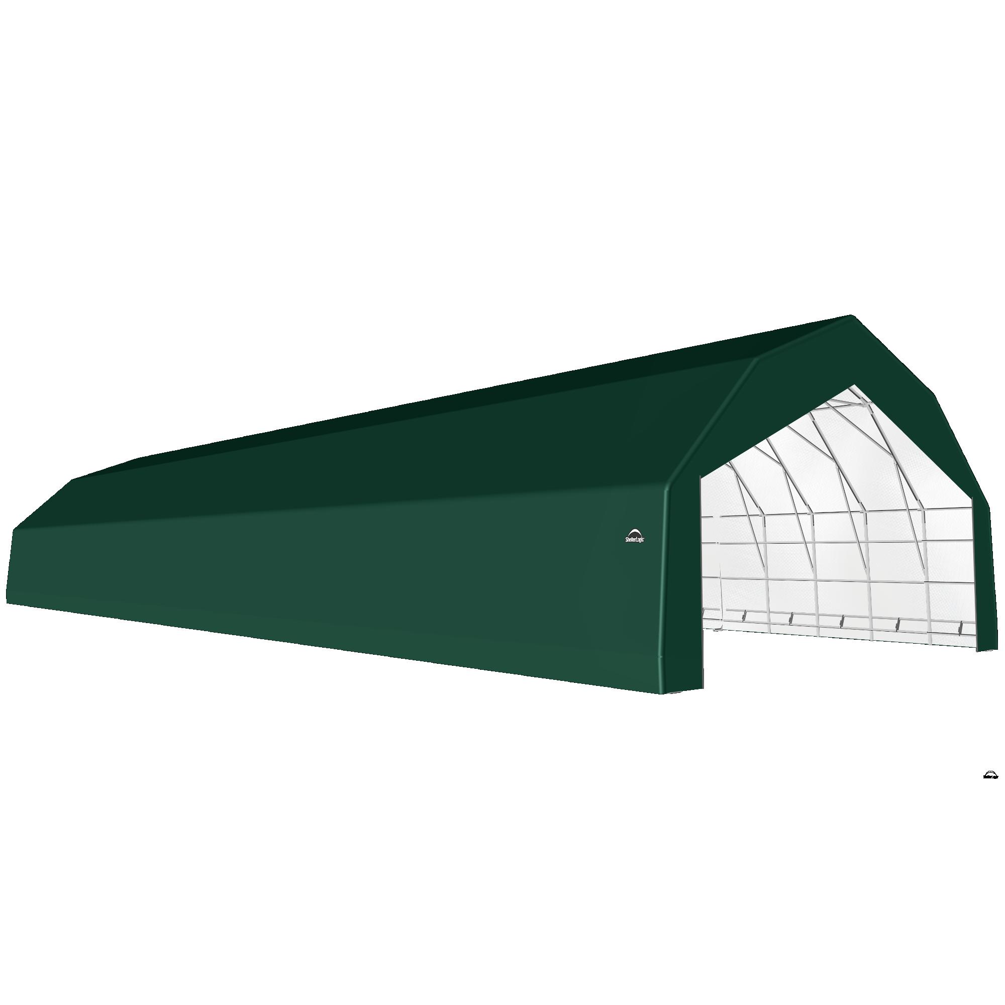 SP Barn 30X100X18 Green 14 oz PE Shelter